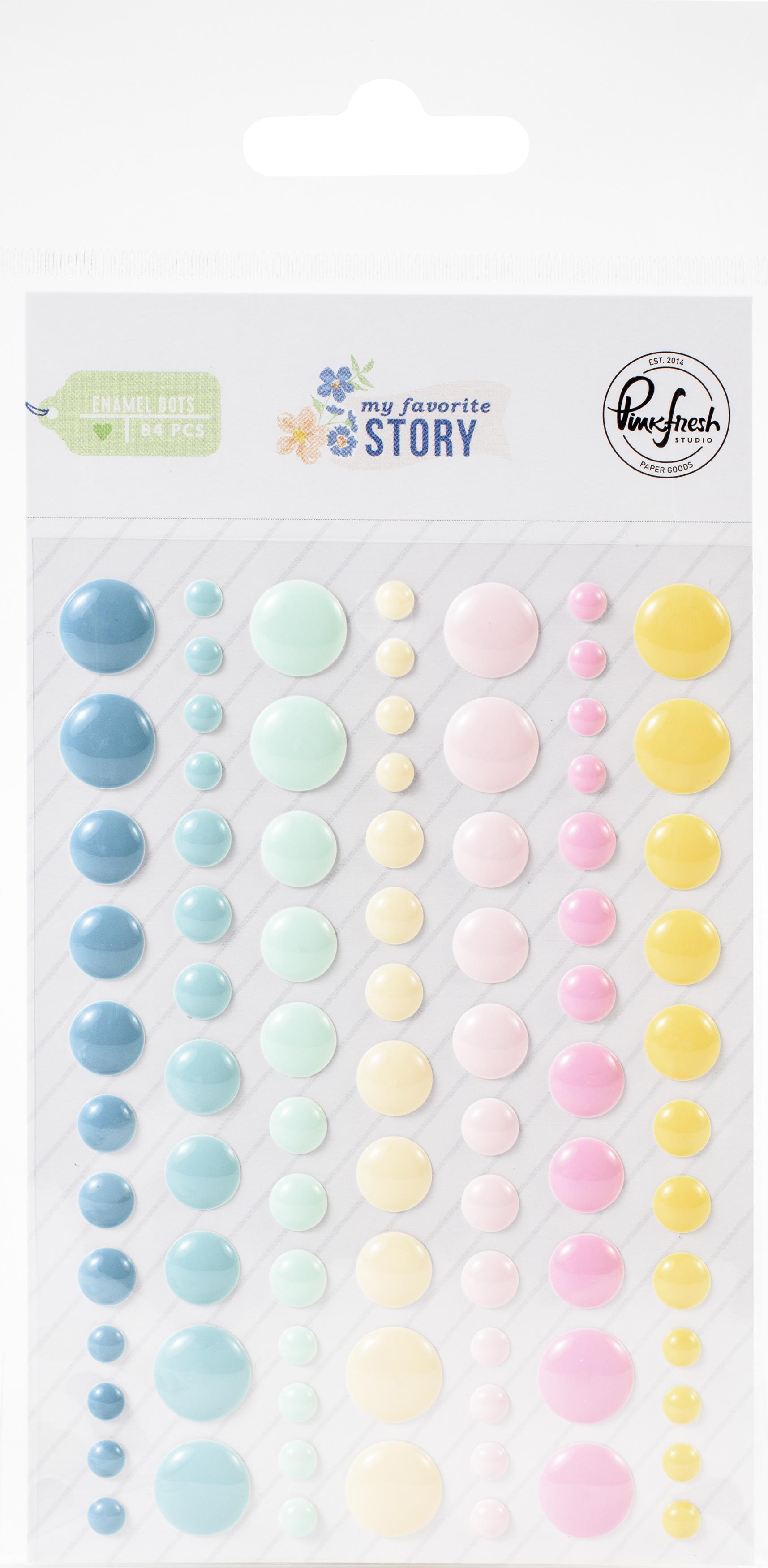 PinkFresh Enamel Dot Stickers-My Favorite Story