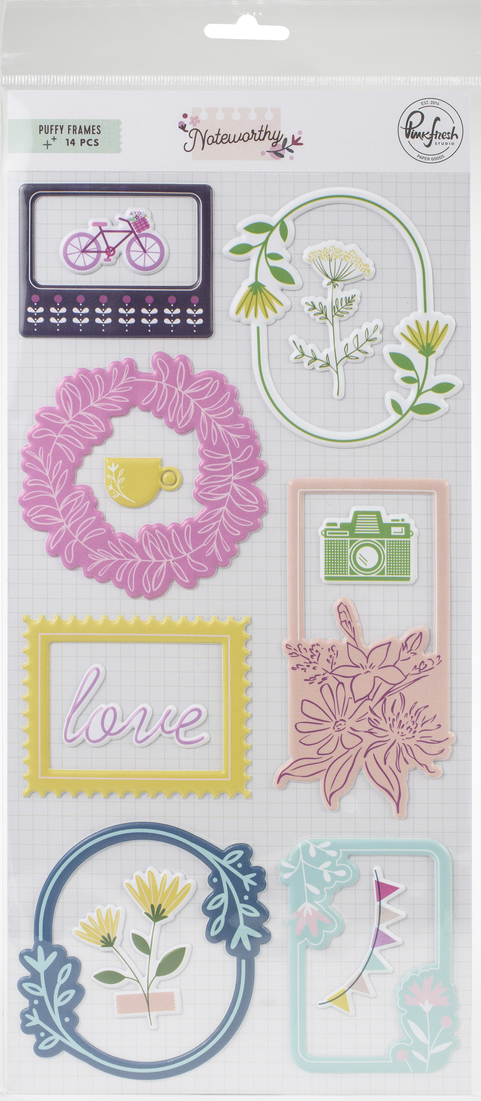 Noteworthy Puffy Frames Stickers