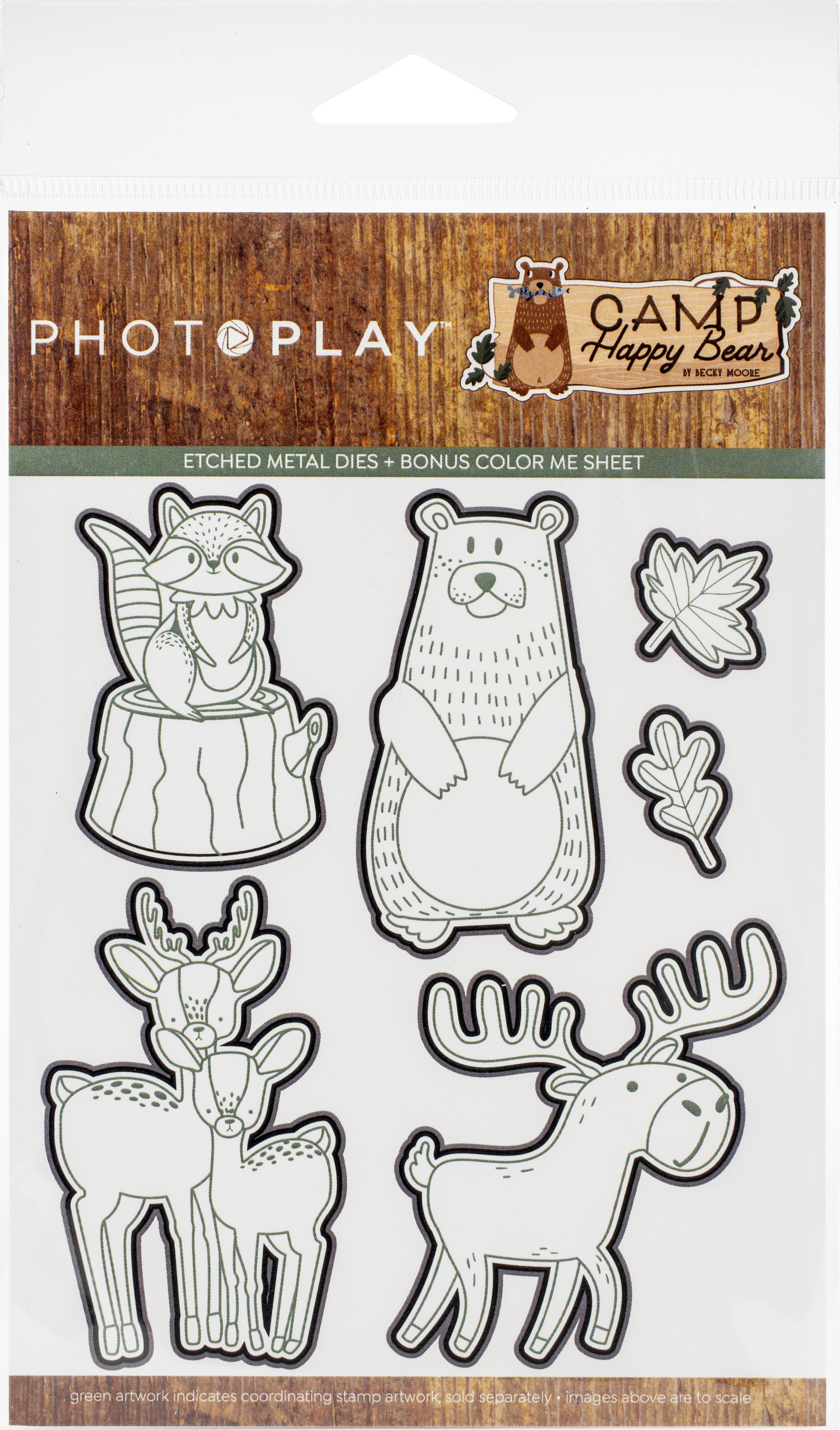 PhotoPlay Etched Die-Camp Happy Bear