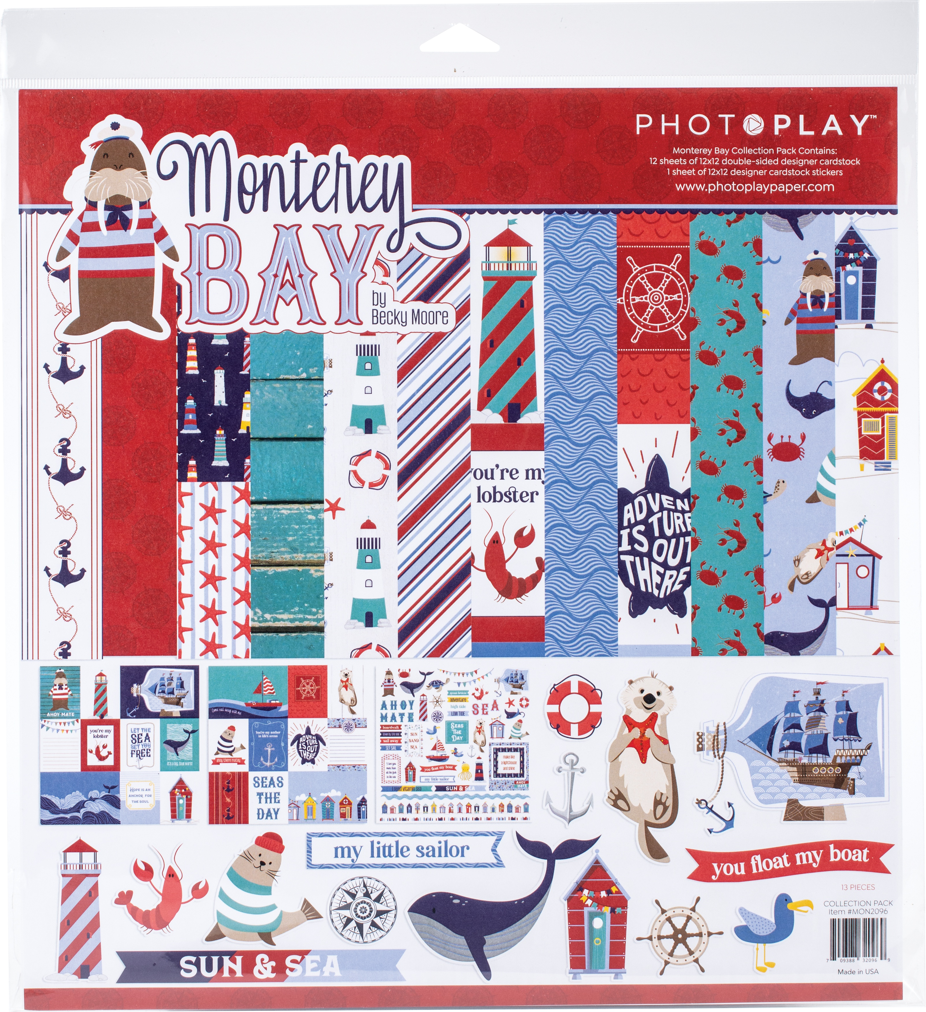 PhotoPlay Collection Pack 12X12-Monterey Bay