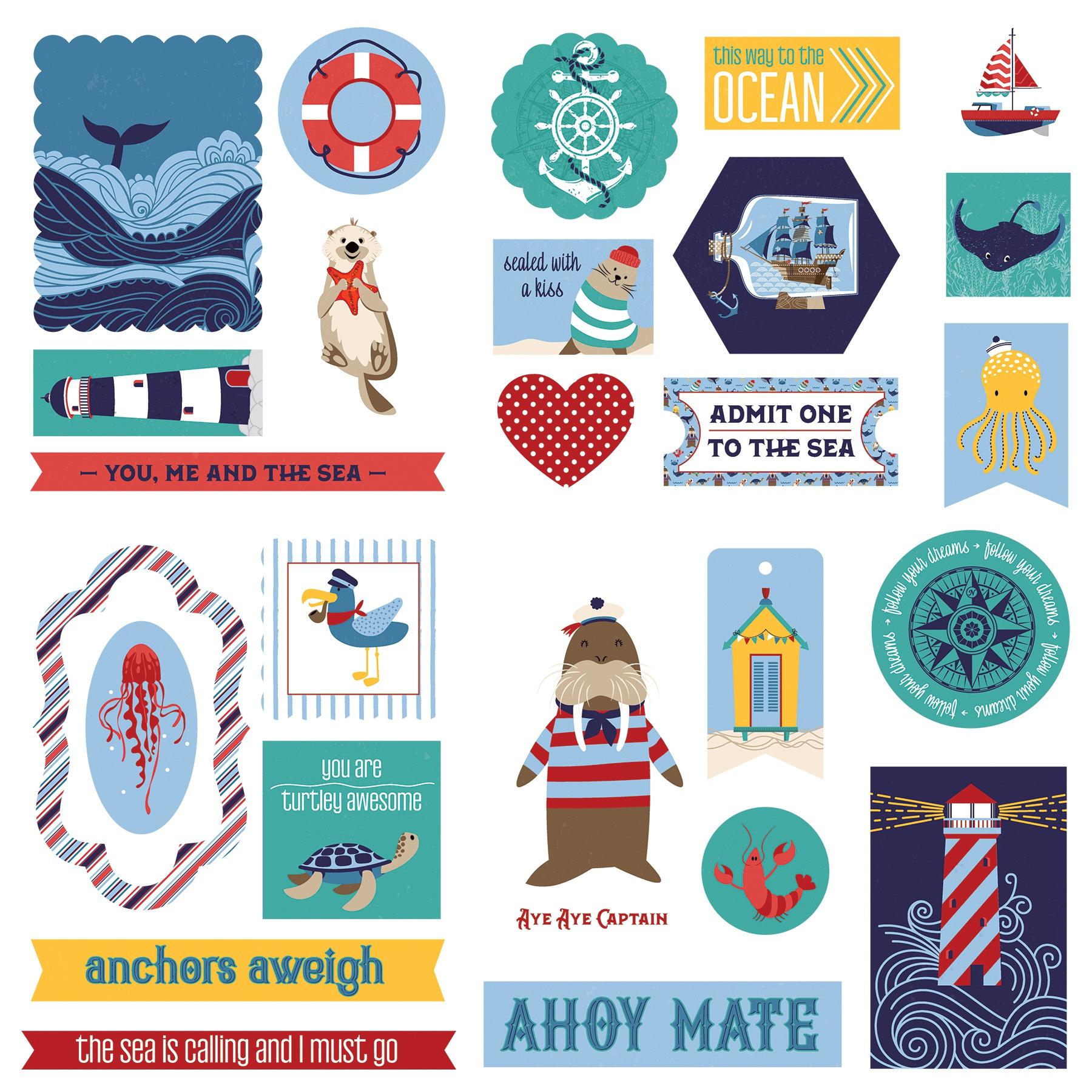 Monterey Bay Ephemera Cardstock Die-Cuts-