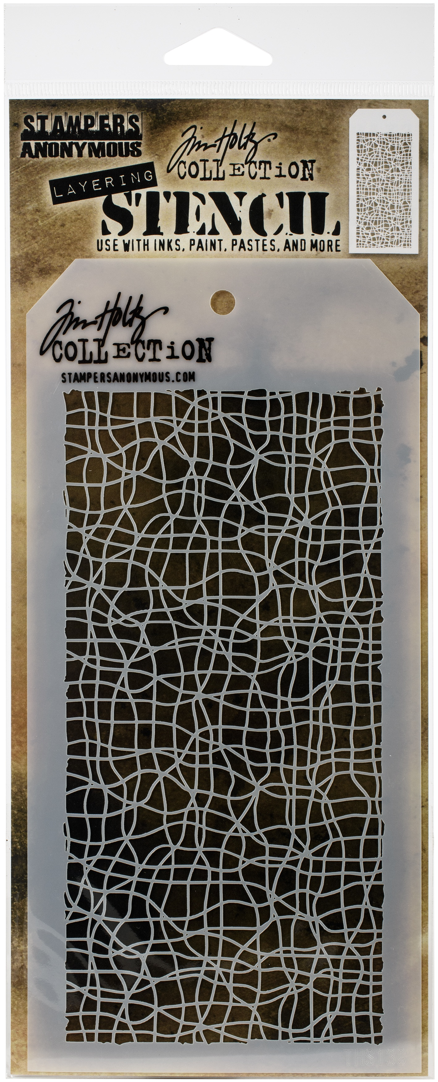 Tim Holtz Layered Stencil 4.125X8.5-Tangles -Layered