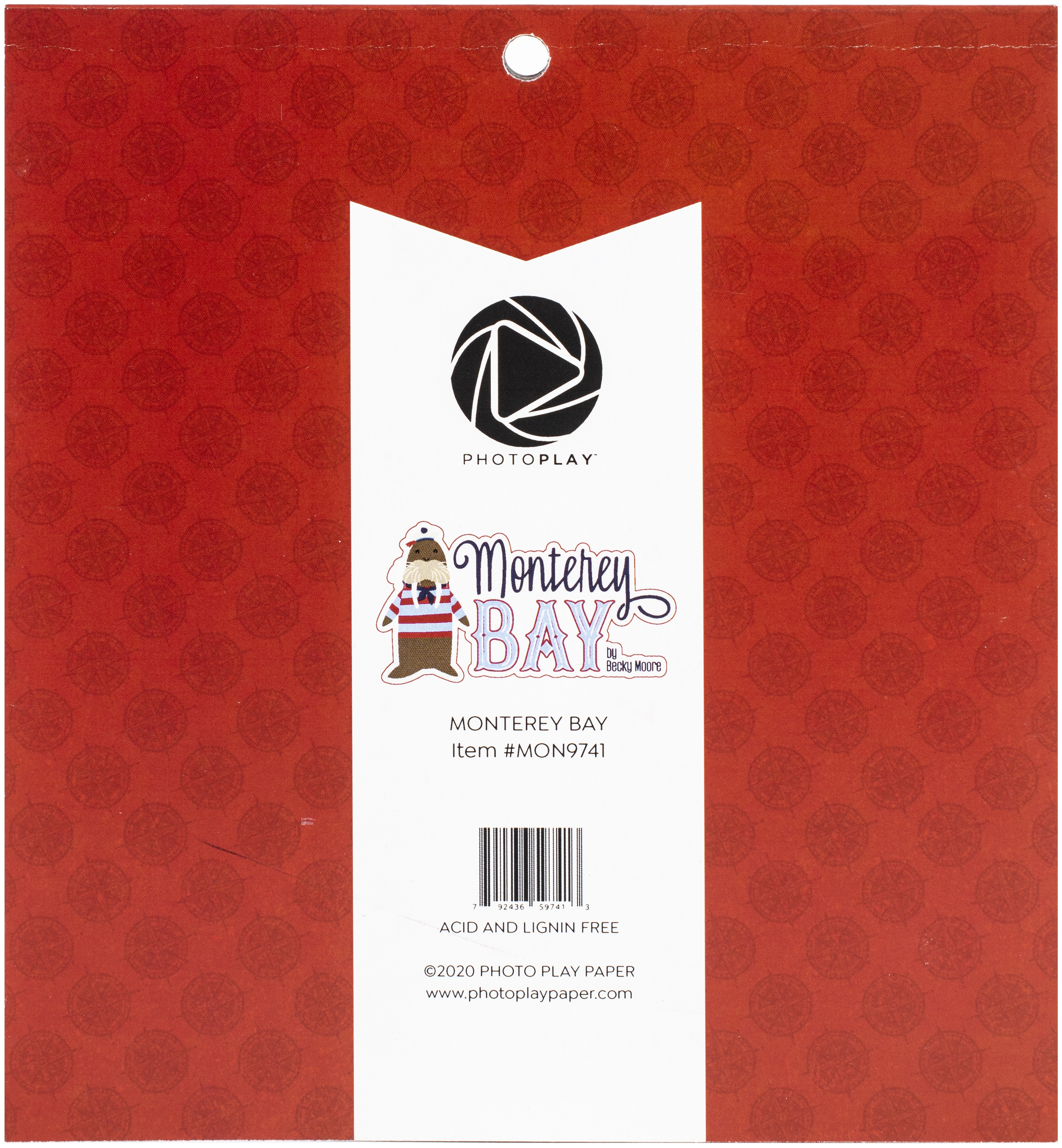 PhotoPlay Double-Sided Paper Pad 6X6 24/Pkg-Monterey Bay