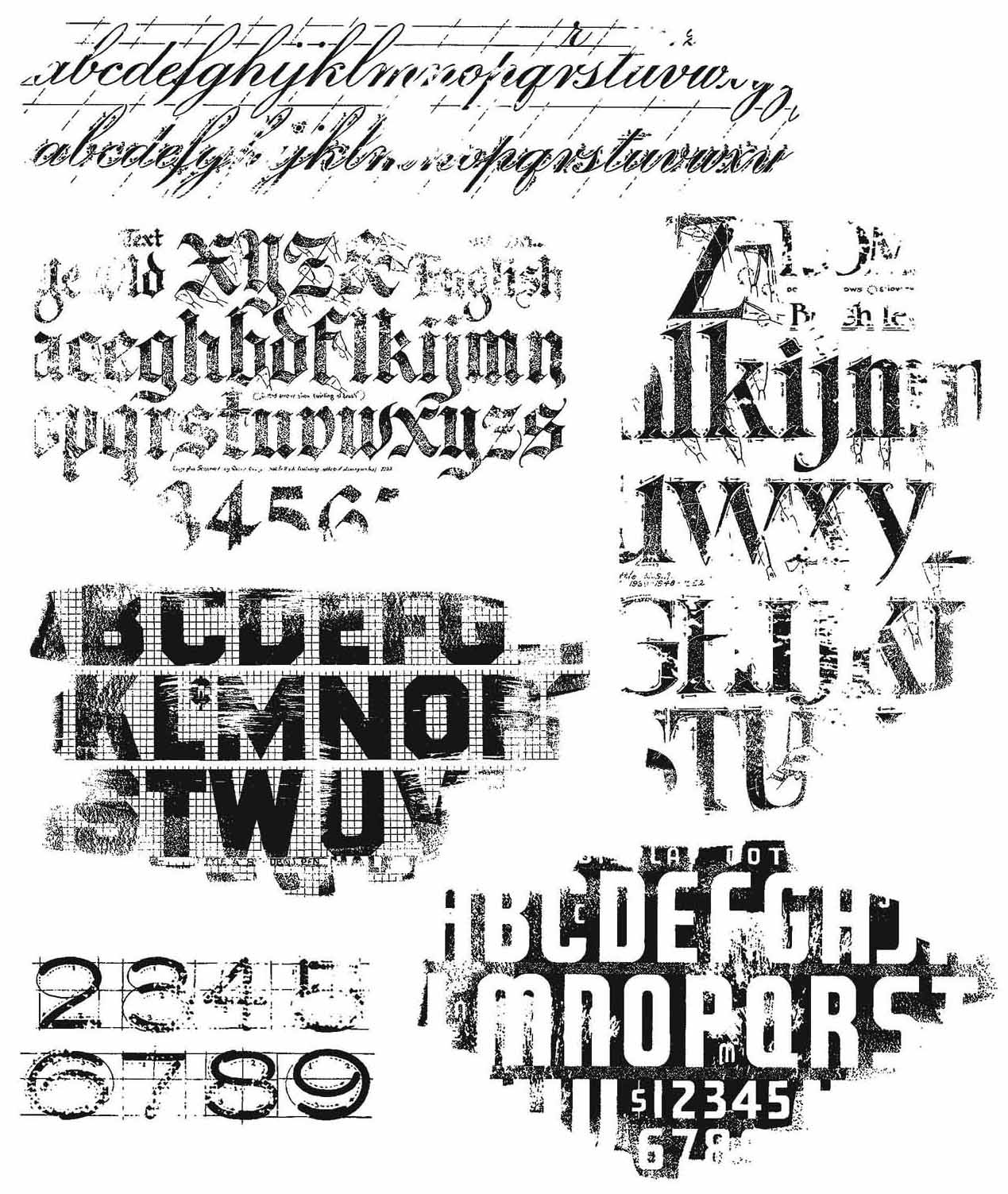 PREORDER Tim Holtz Cling Stamps 7X8.5-Faded Type