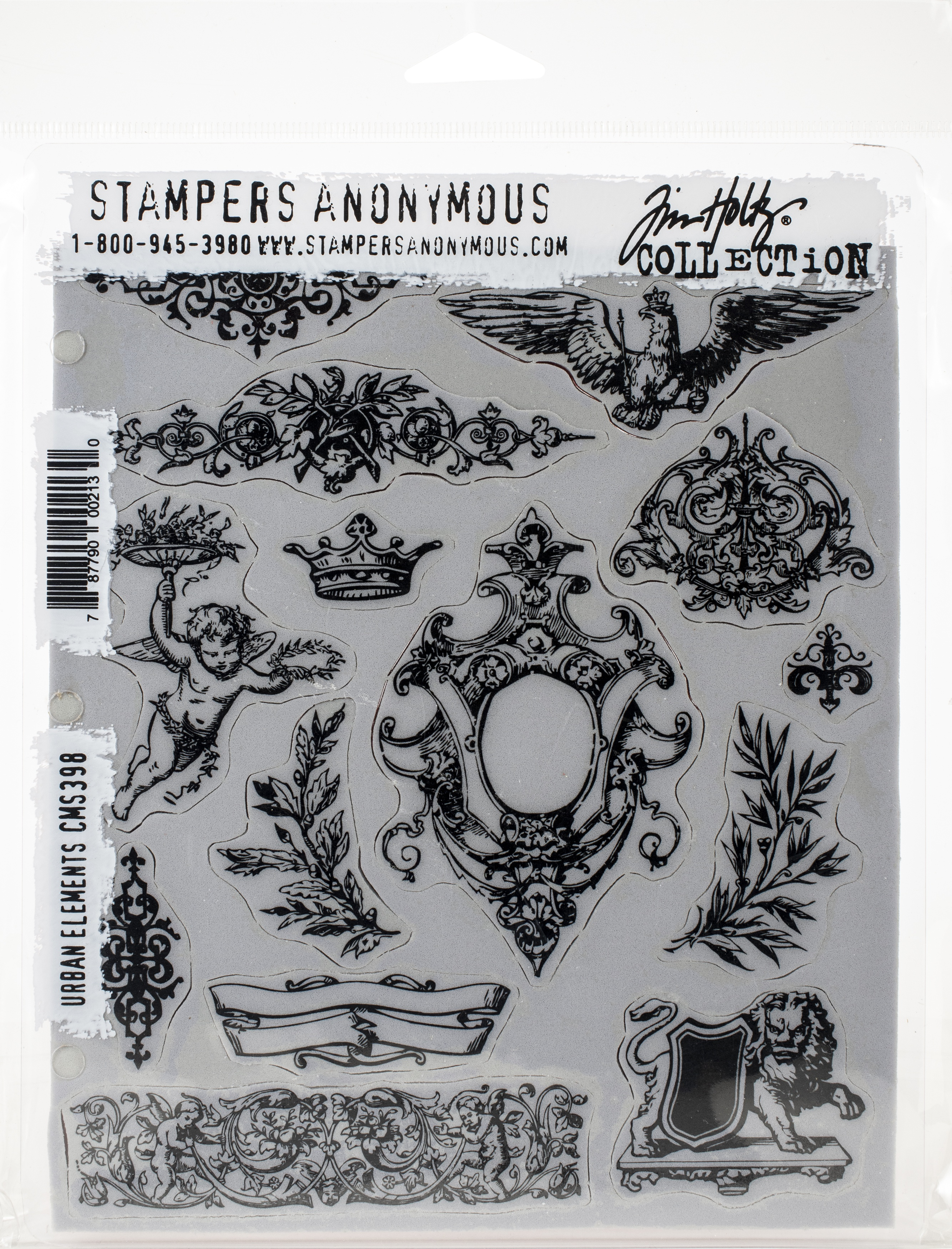 Tim Holtz Cling Stamps 7X8.5-Urban Elements