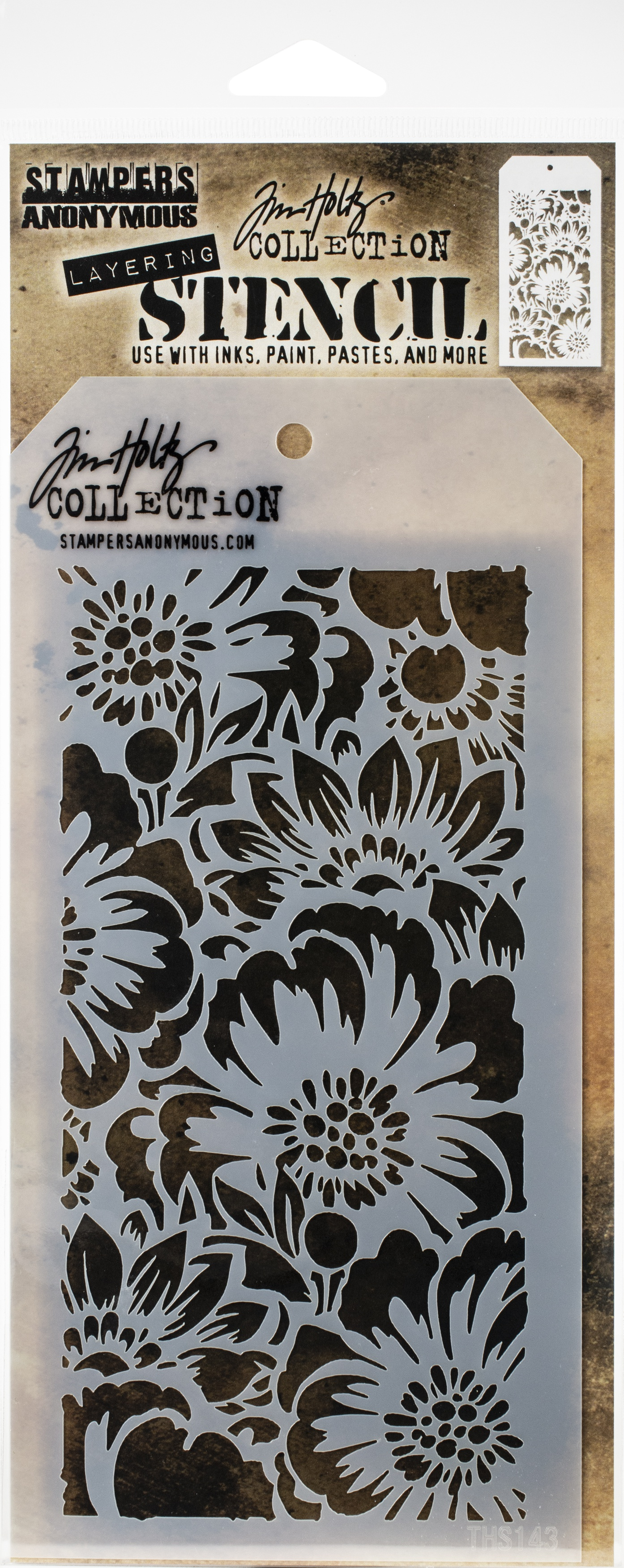 Tim Holtz Layered Stencil 4.125X8.5-Bouquet -Layered