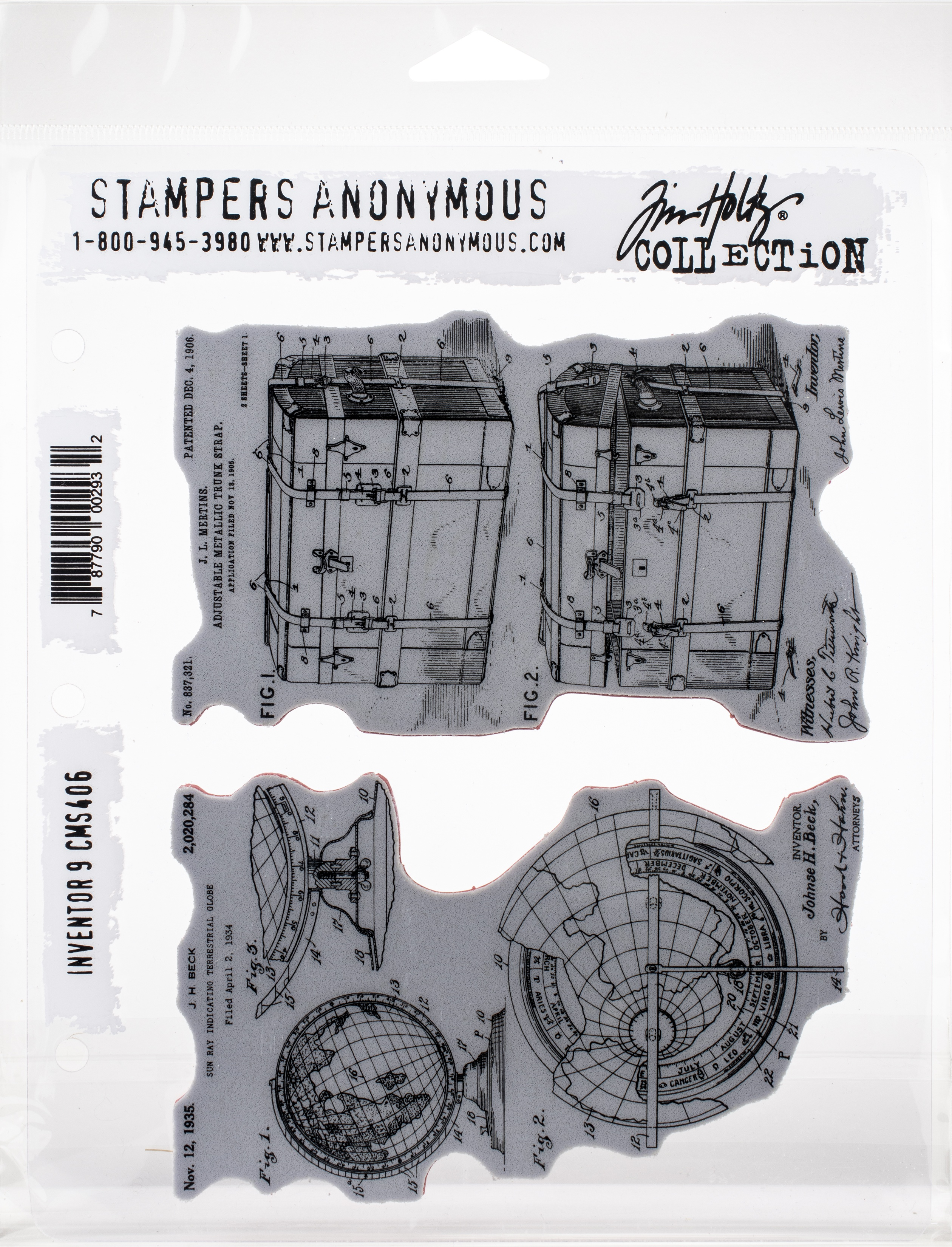 Tim Holtz Cling Stamps 7X8.5-Inventor 9