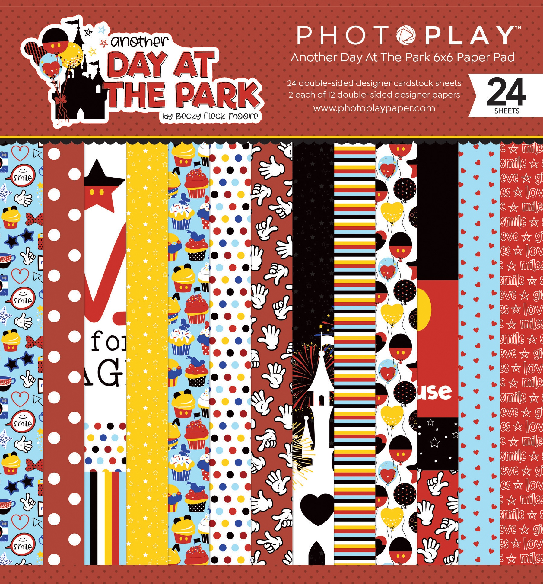 PhotoPlay Double-Sided Paper Pad 6X6 24/Pkg-Another Day At The Park