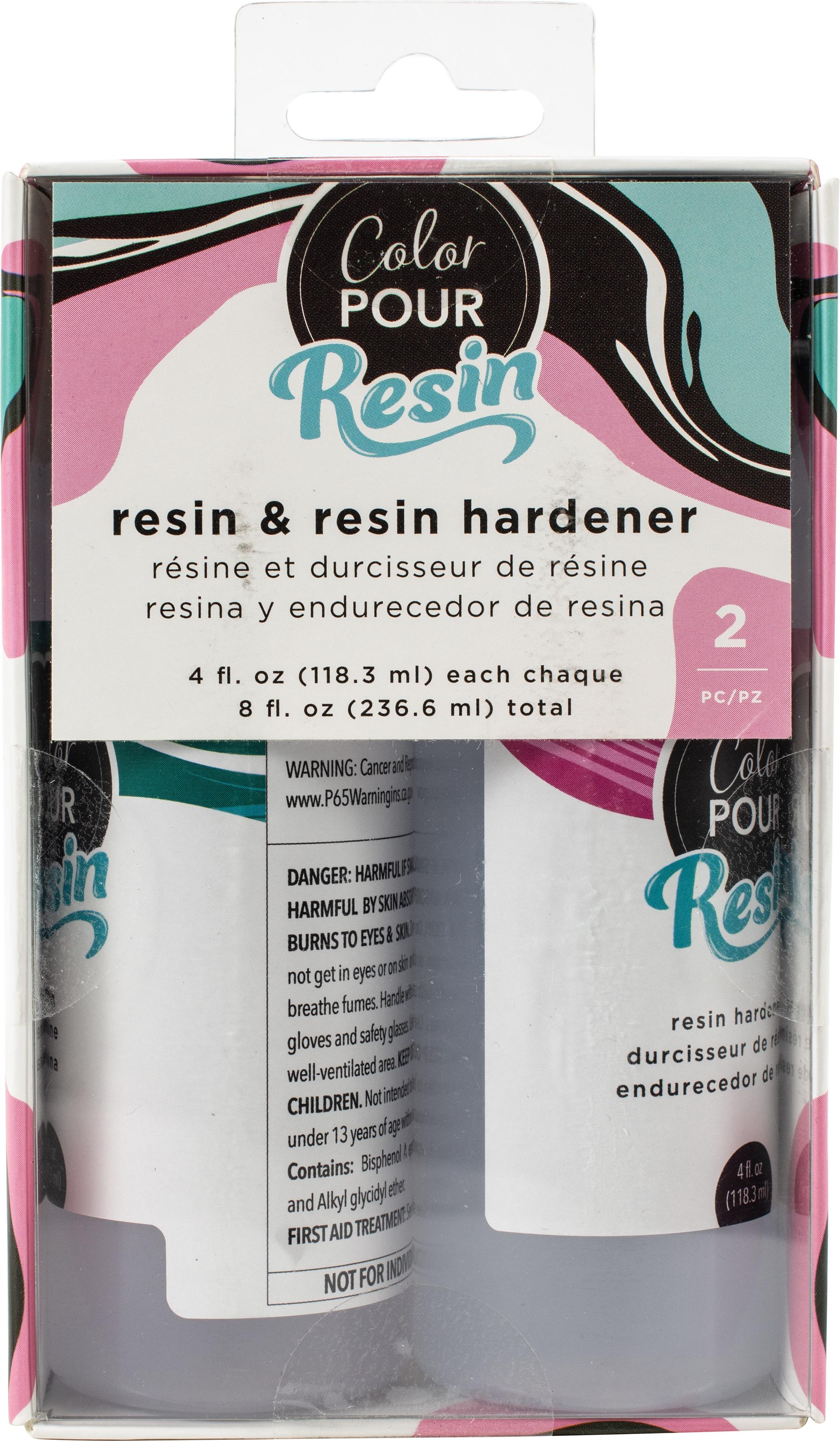 American Crafts Color Pour Resin & Hardener 4oz 2/Pkg-