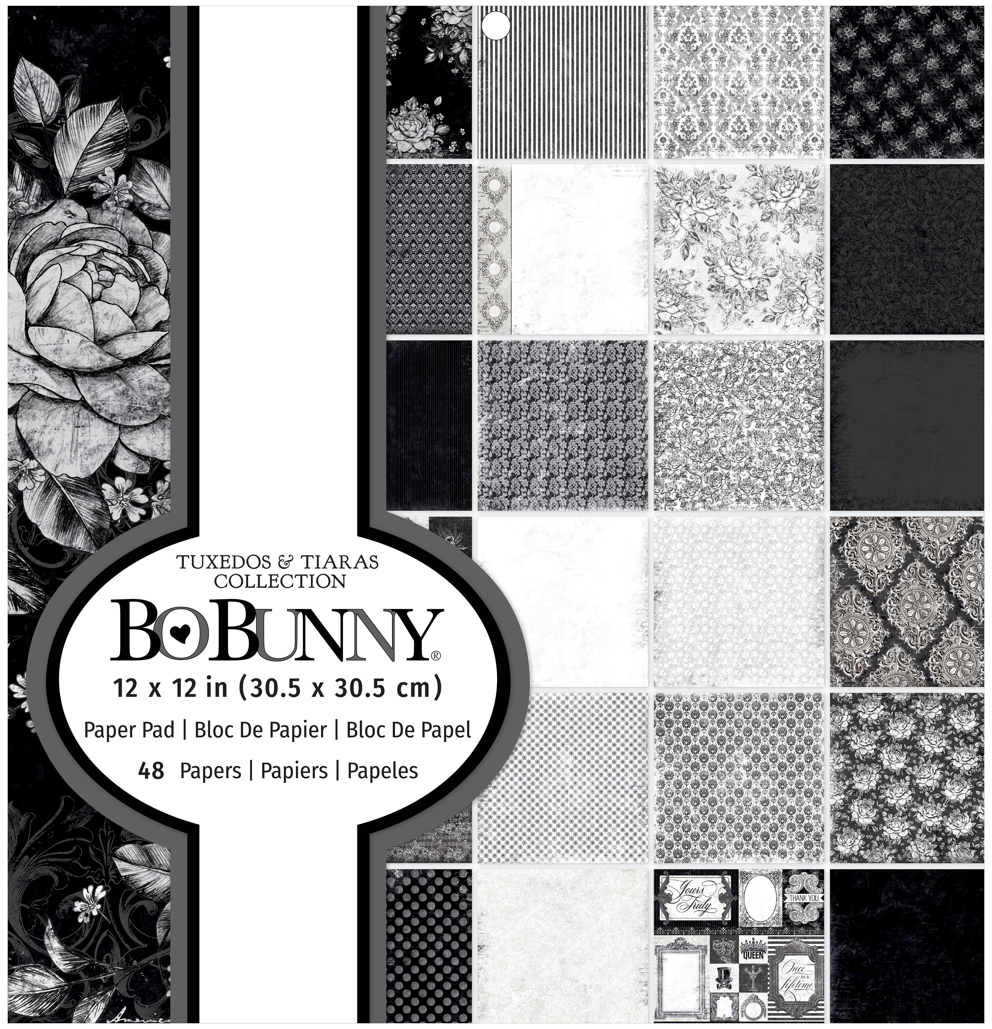 BoBunny Single-Sided Paper Pad 12X12 48/Pkg-Tuxedos & Tiaras