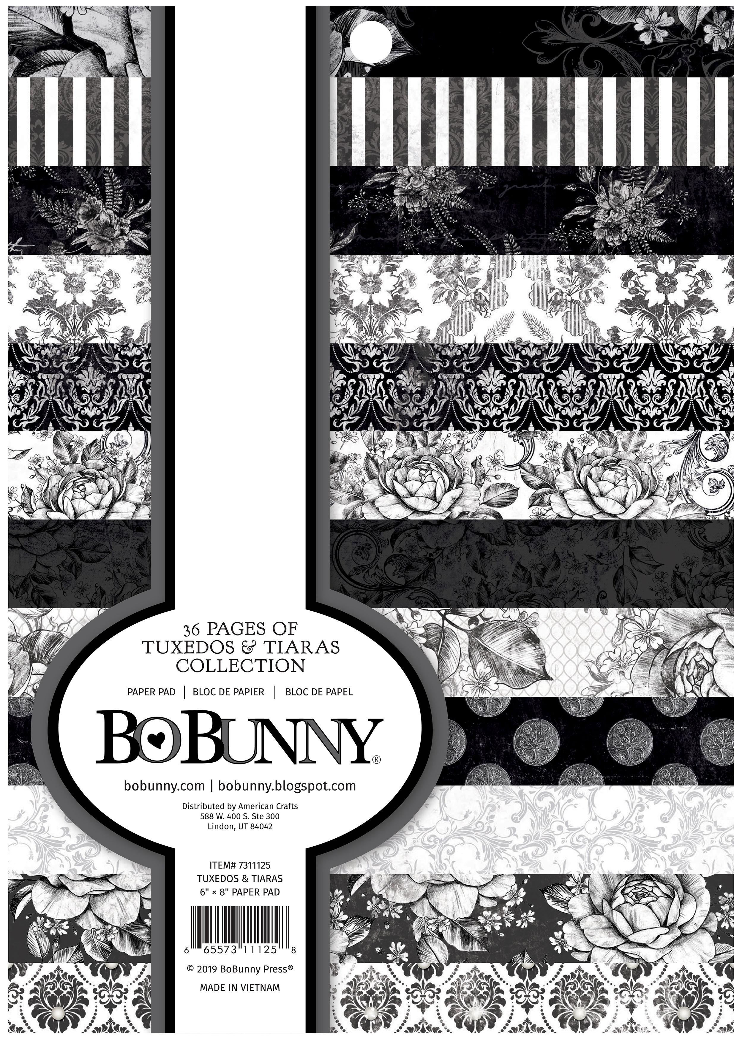 BoBunny Single-Sided Paper Pad 6X8 36/Pkg-Tuxedos & Tiaras, 12 Designs/3 Each