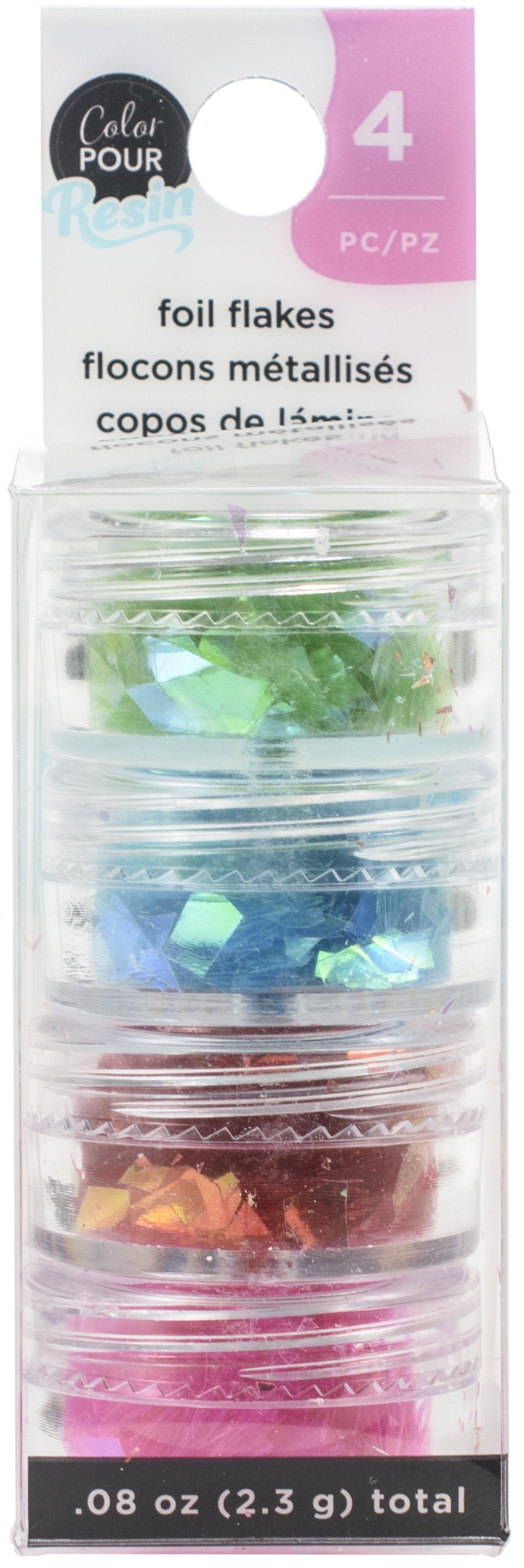 American Crafts Color Pour Resin Mix-Ins-Foil Flakes - Primary 4/Pkg