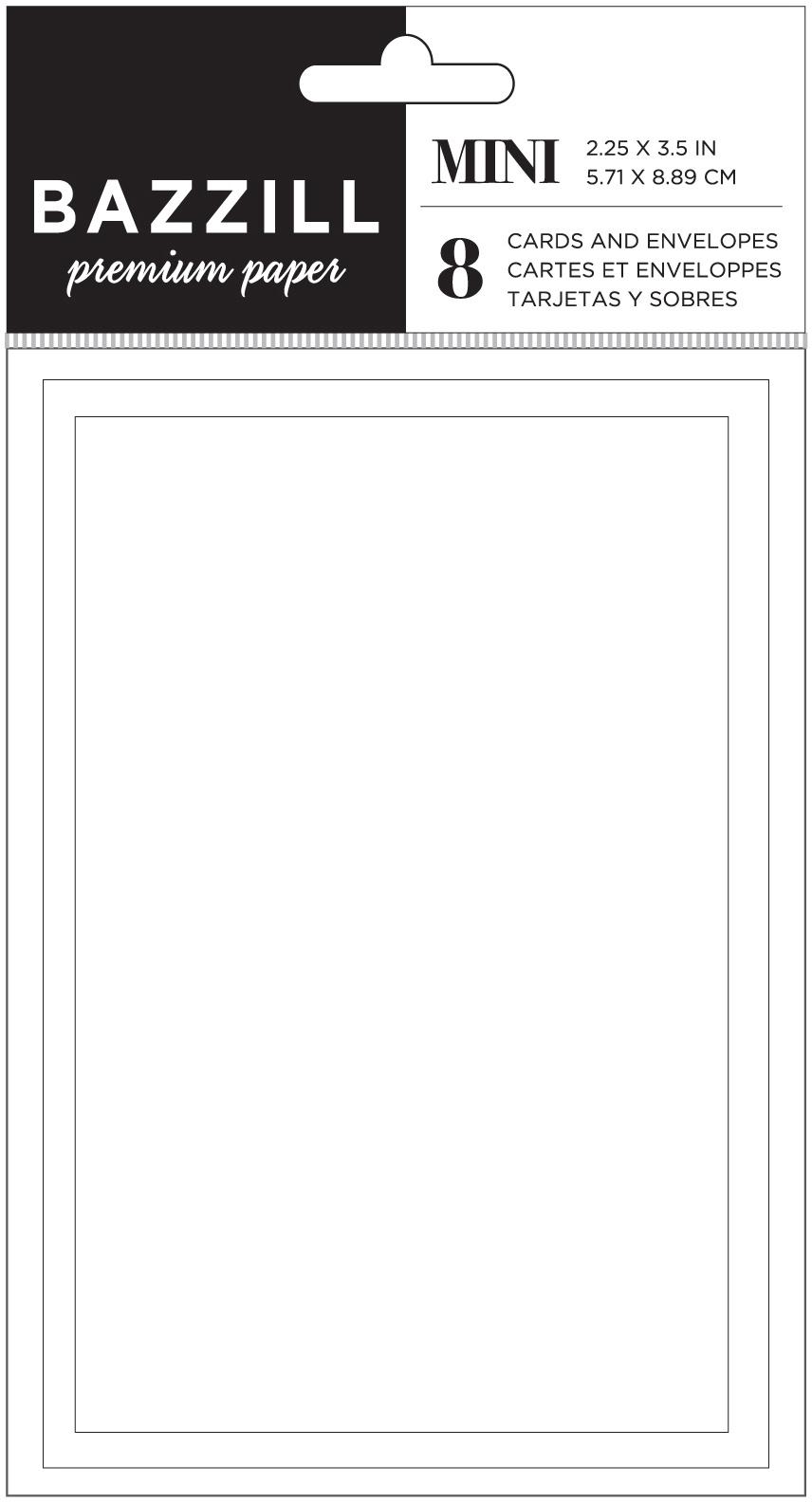 Bazzill Mini Cards W/Envelopes 2.25X3.5 8/Pkg-Coconut Swirl
