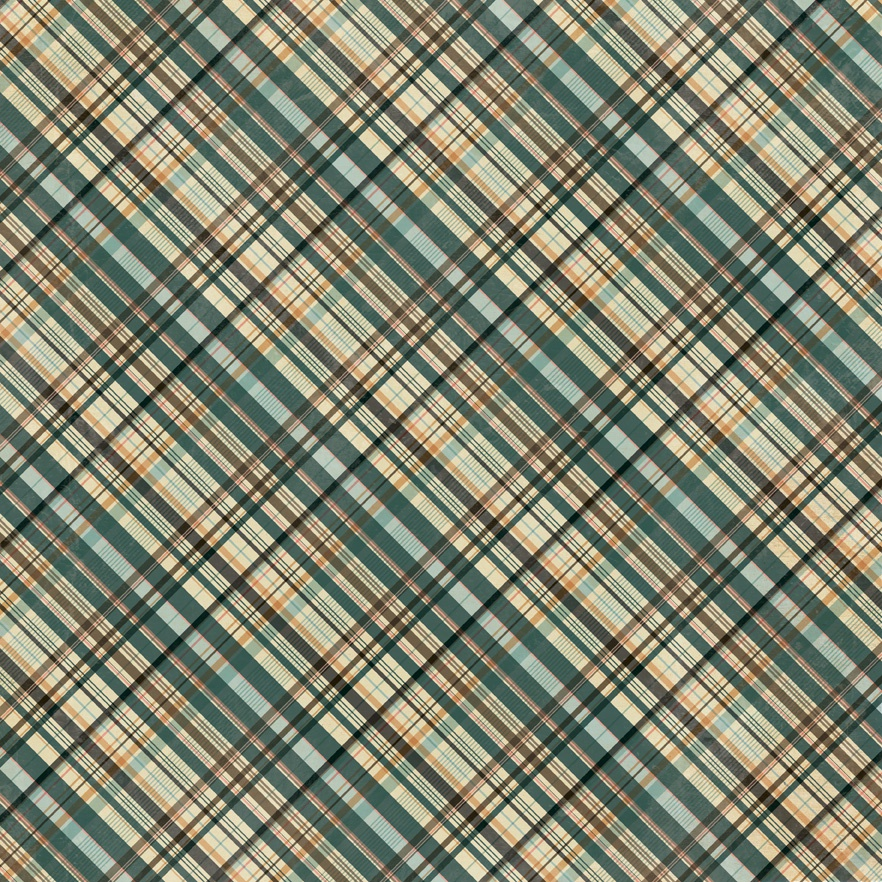 Purebred Double-Sided Cardstock 12X12-#1 Multi Color Plaid