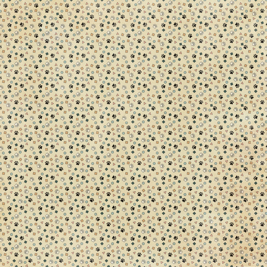 Purebred Double-Sided Cardstock 12X12-#3 Mini Paw Prints