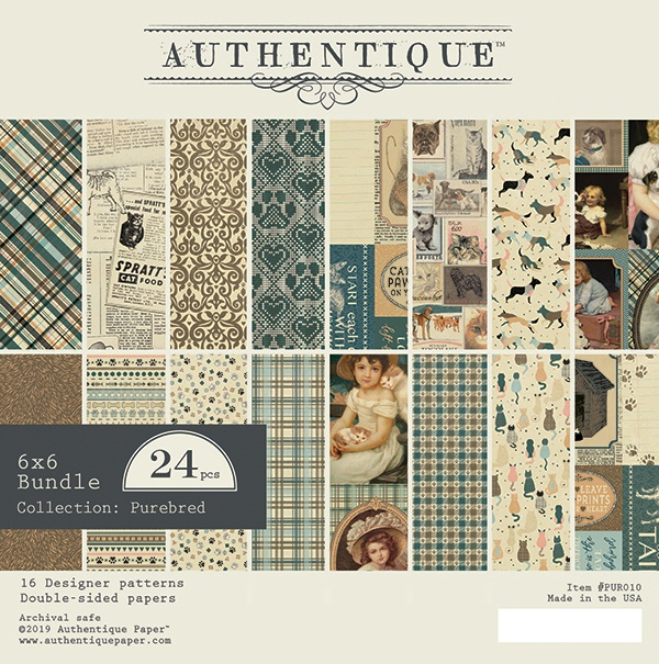 Authentique Double-Sided Cardstock Pad 6X6 24/Pkg-Purebred