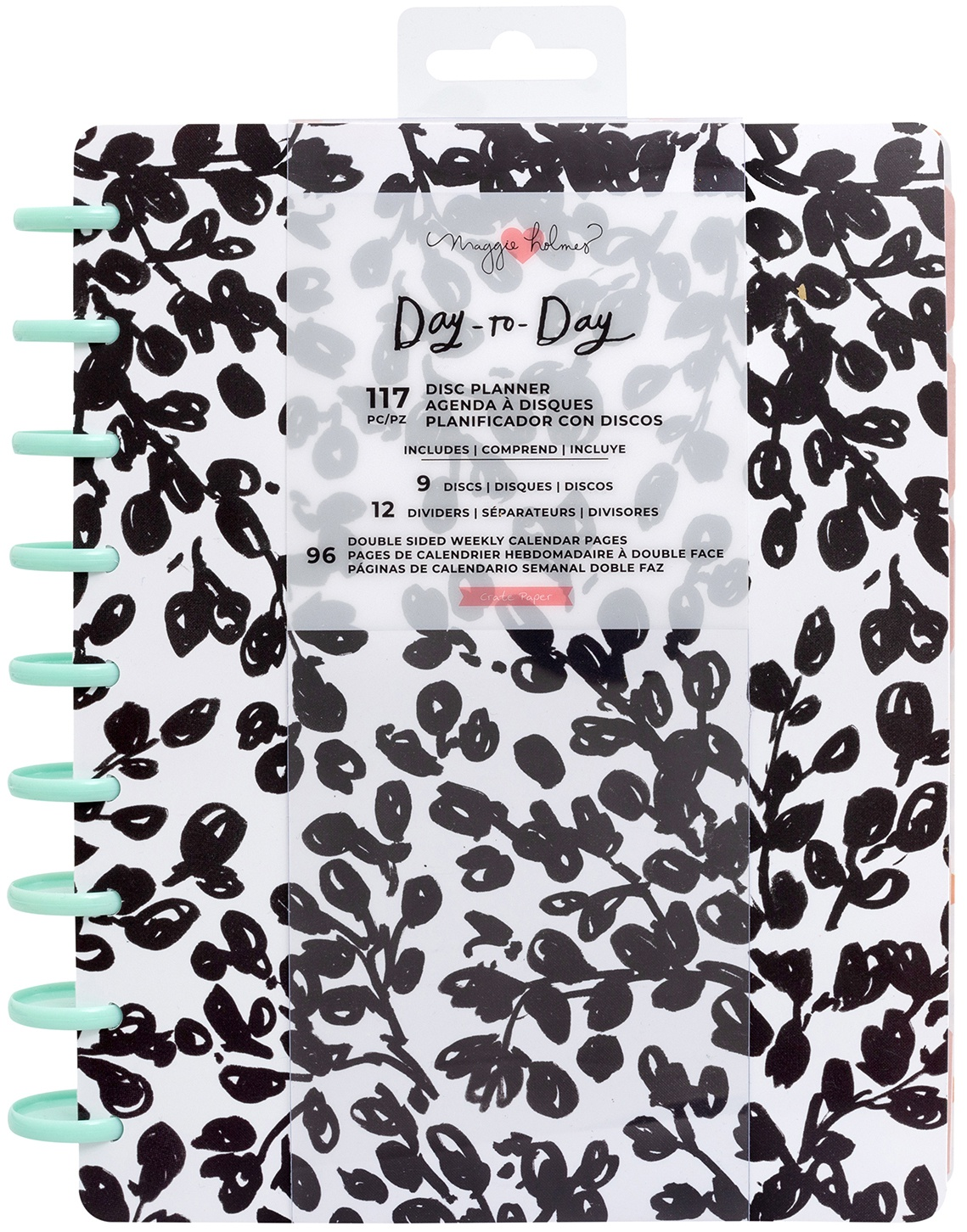Maggie Holmes Day-To-Day Undated 12 Month Planner 7.5X9.5-Daydream