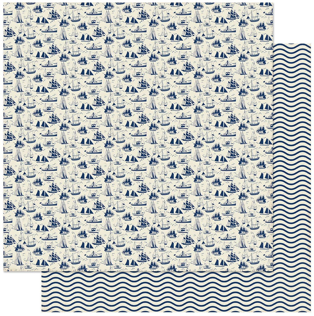 Voyage Double-Sided Cardstock 12X12-#9 Ships At Sea