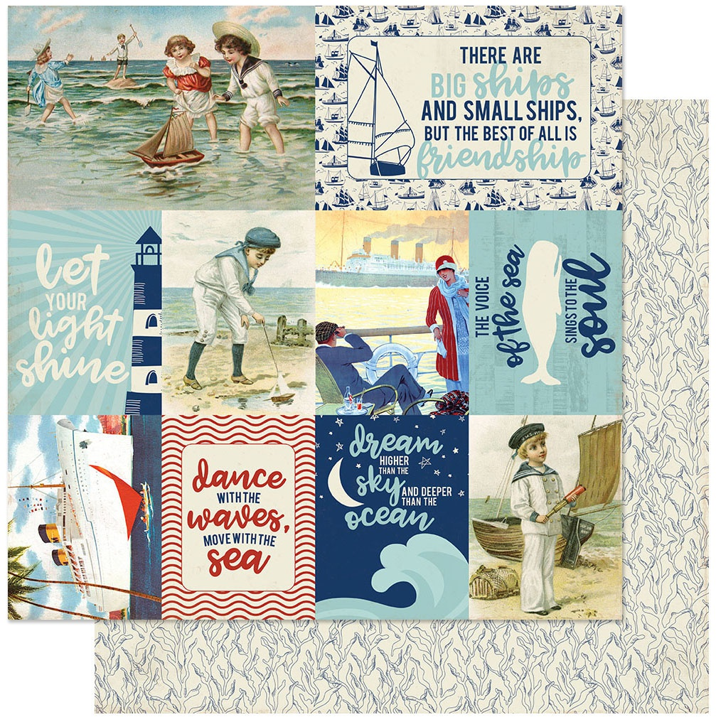 Voyage Double-Sided Cardstock 12X12-#11 Vintage Images Cut-Aparts