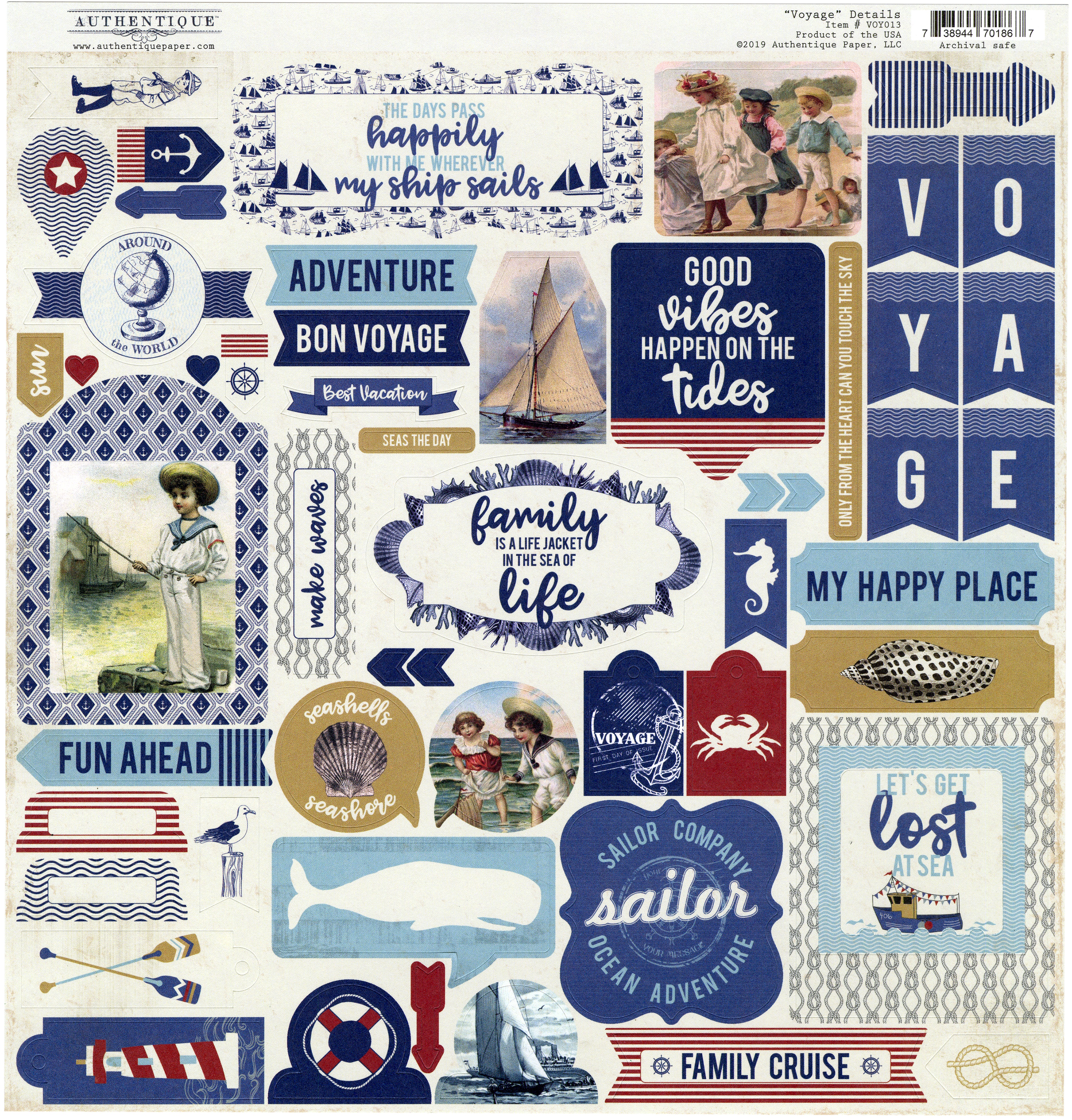 Voyage Cardstock Stickers 12X12-Details