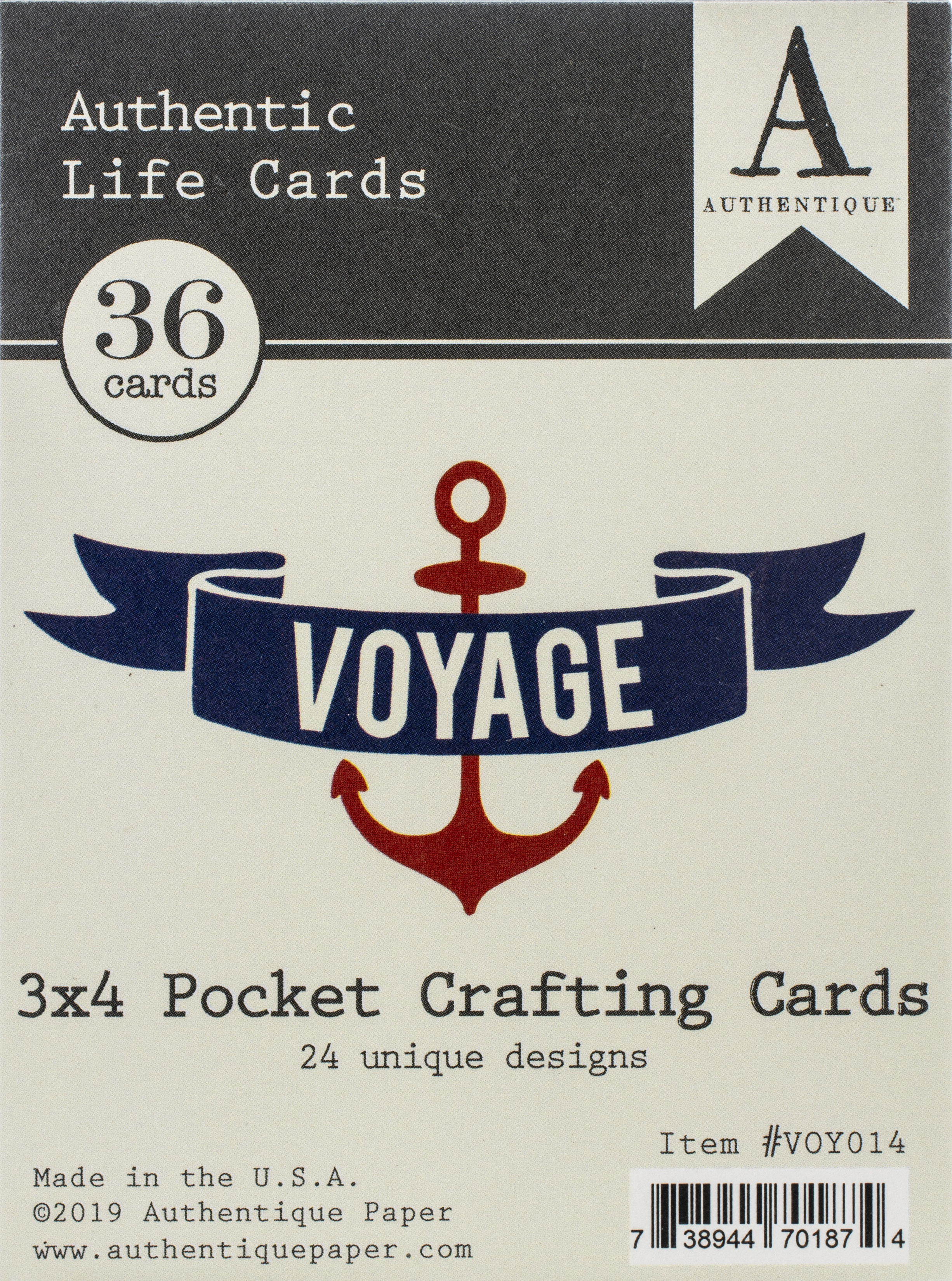Voyage Life Cards 36/Pkg-3X4 Pocket Crafting & Journaling Cards