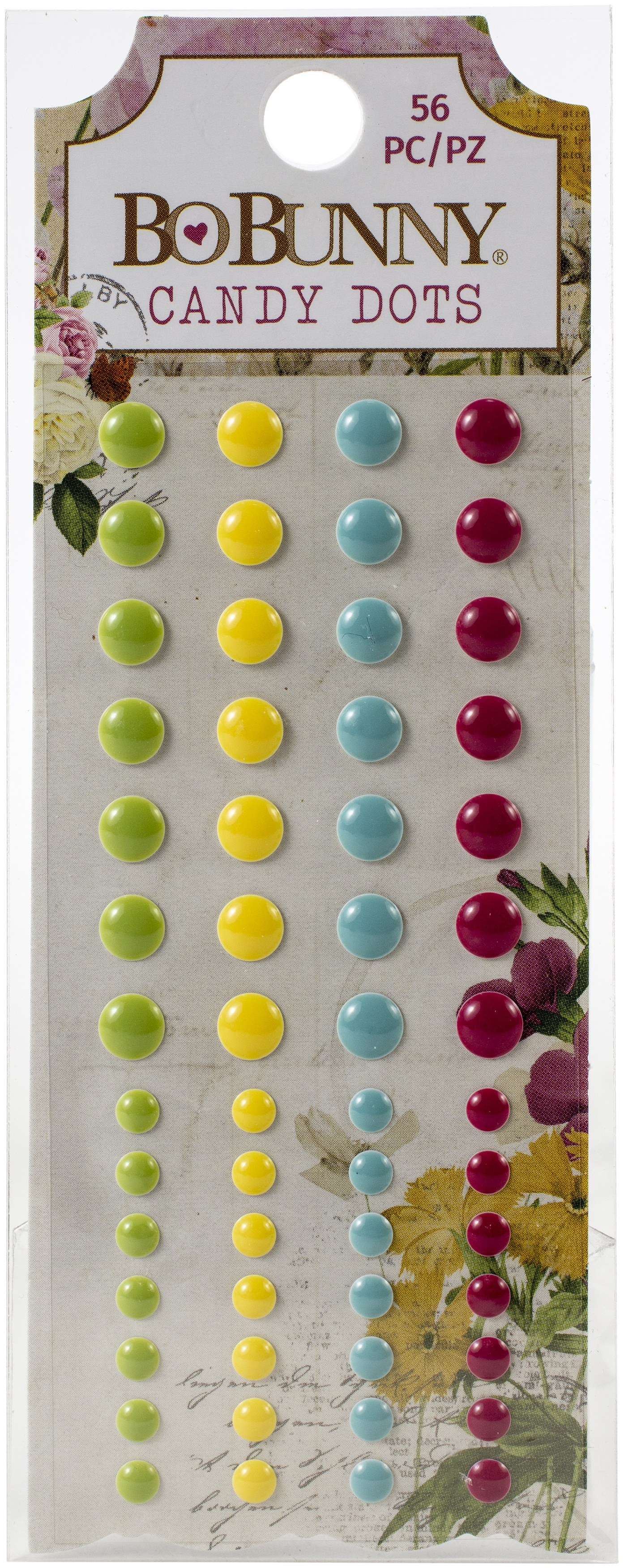 Botanical Journal Enamel Dots 56/Pkg-