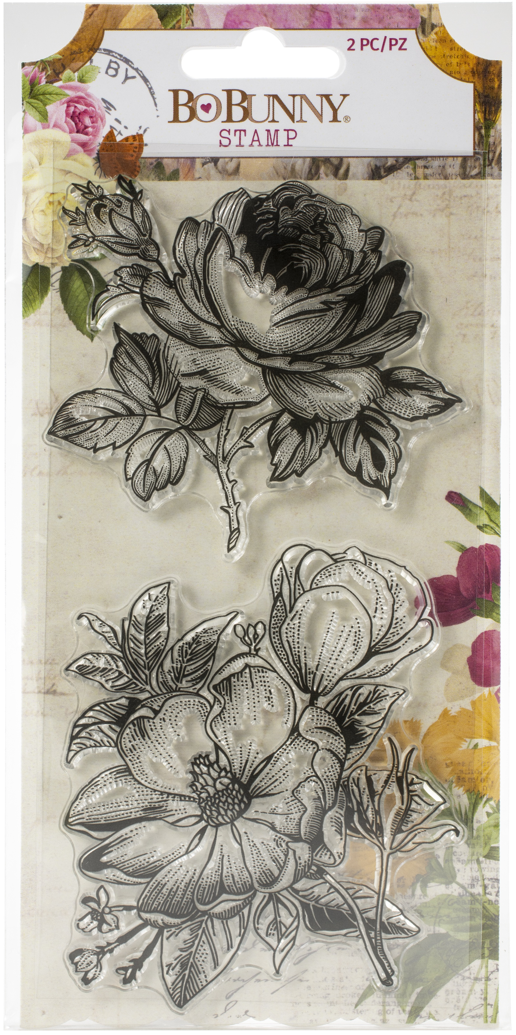 BoBunny Clear Stamps 4X6-Botanical Journal
