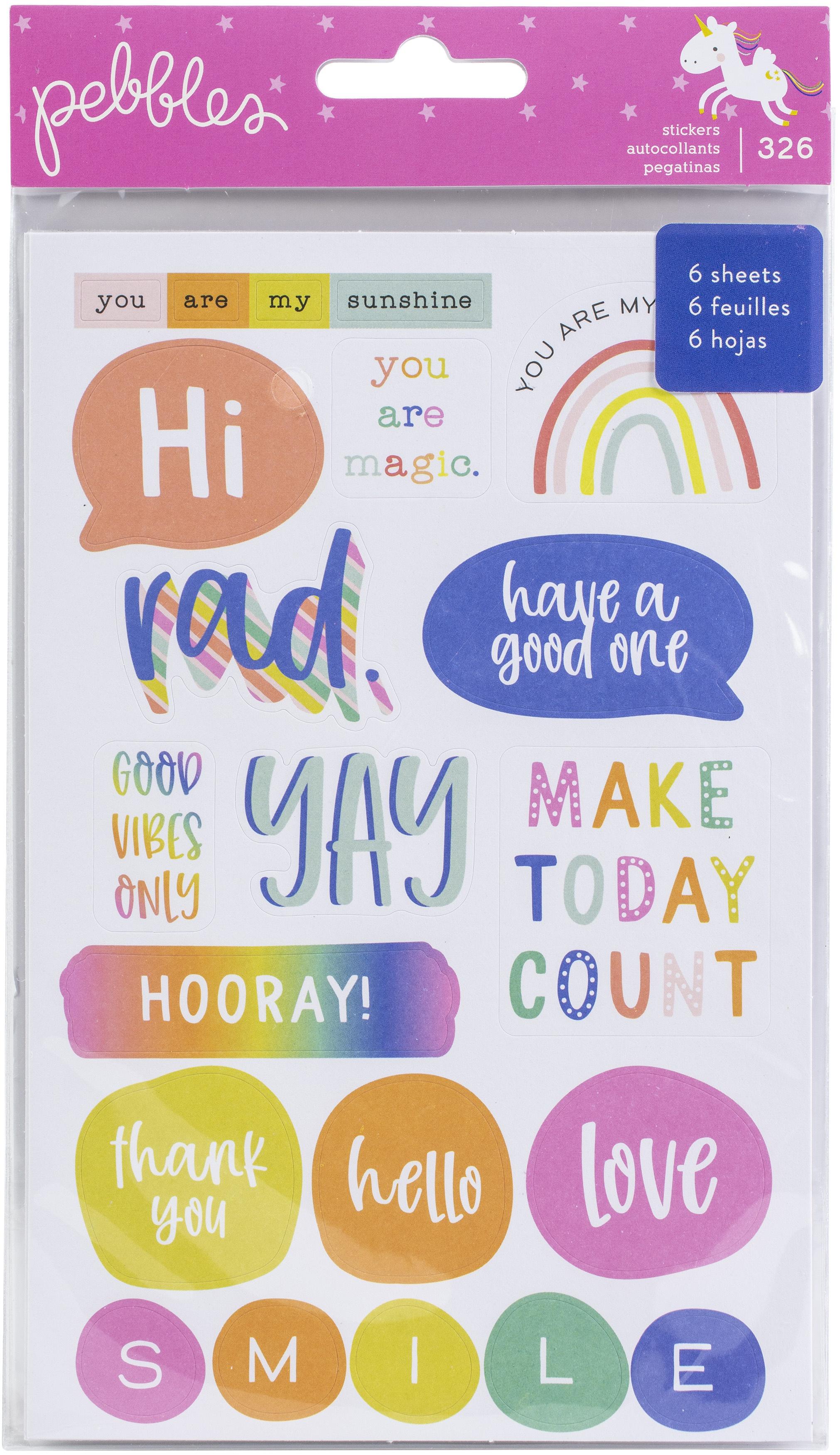 Live Life Happy Sticker Book 326/Pkg-
