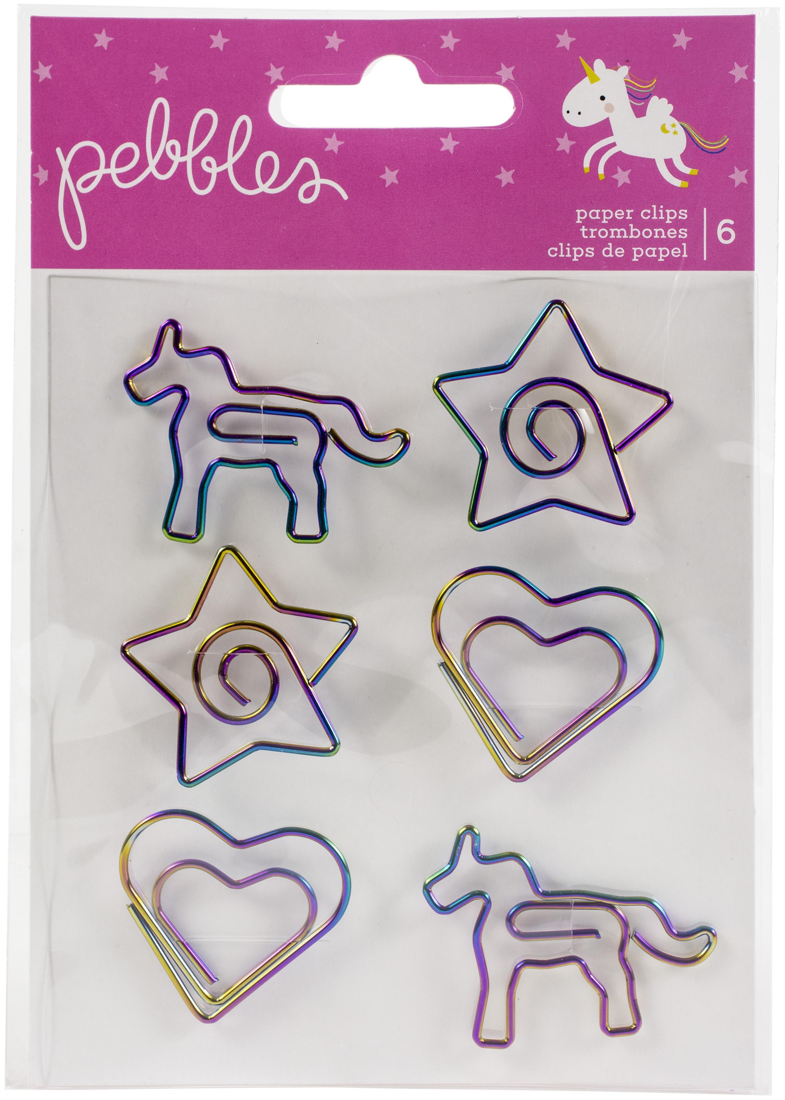 Pebbles - Live Life Happy Paper Clips 6/Pkg-