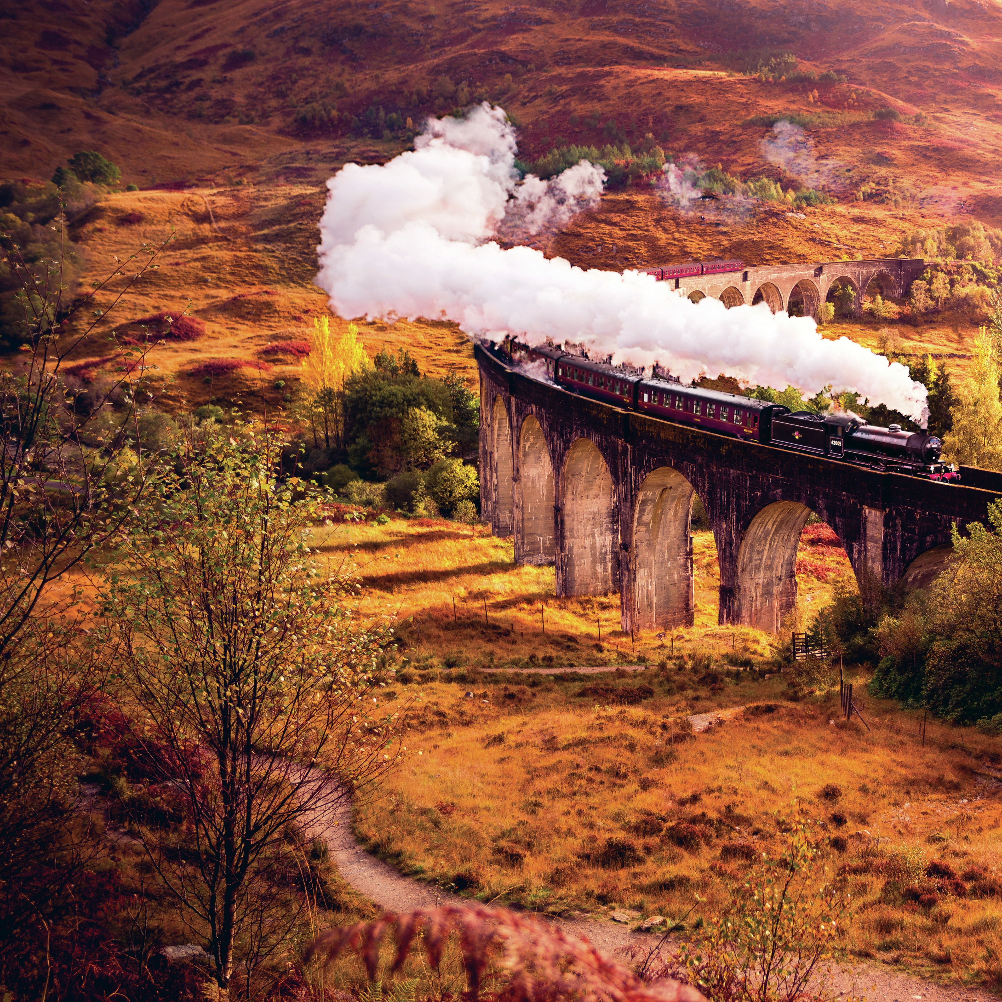 All Aboard Double-Sided Cardstock 12X12-Glenfinnan Viaduct