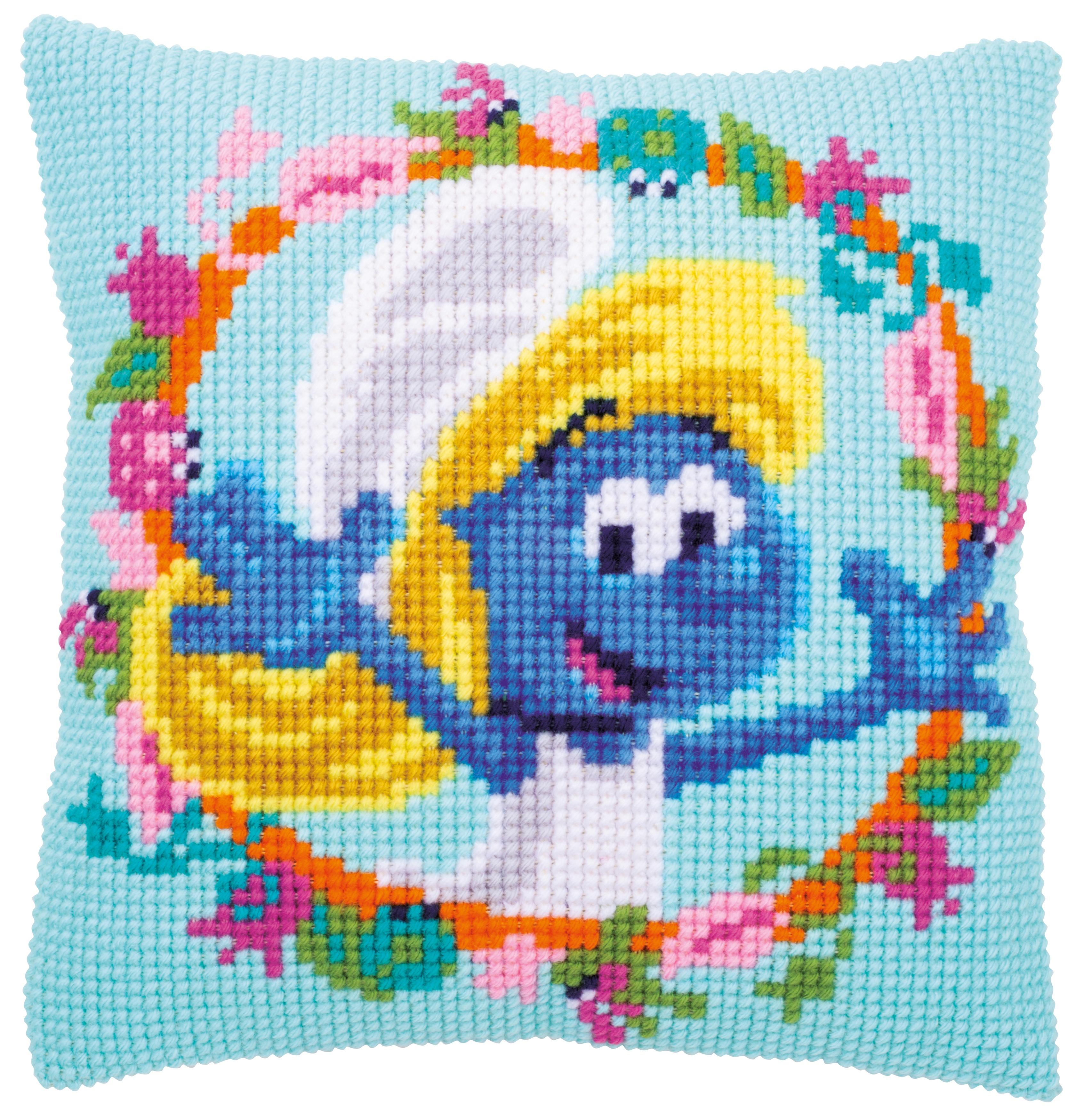 Vervaco Needlepoint Cushion Top Kit 16X16-The Smurfs Smurfette