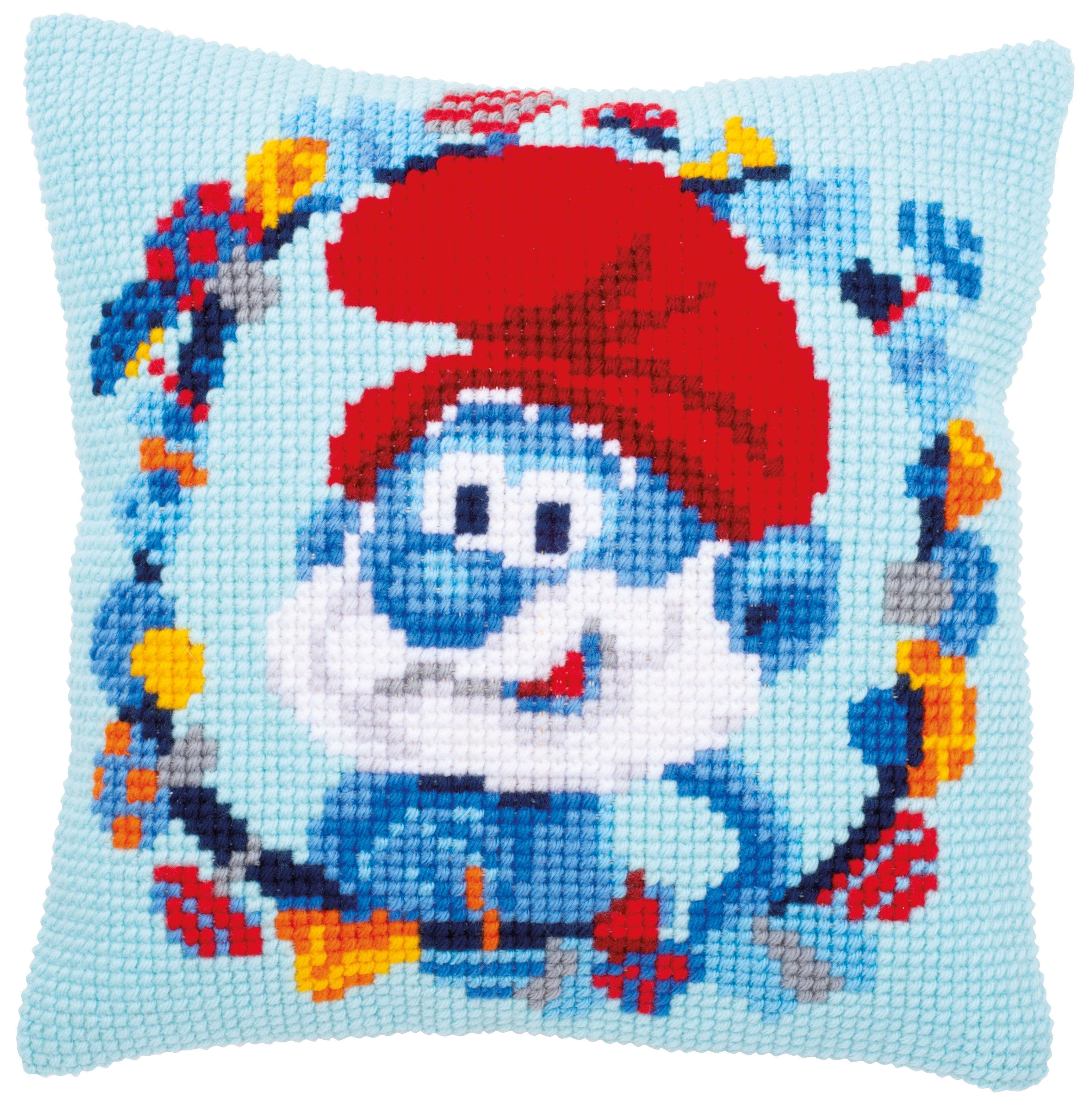 Vervaco Needlepoint Cushion Top Kit 16X16-The Smurfs Papa