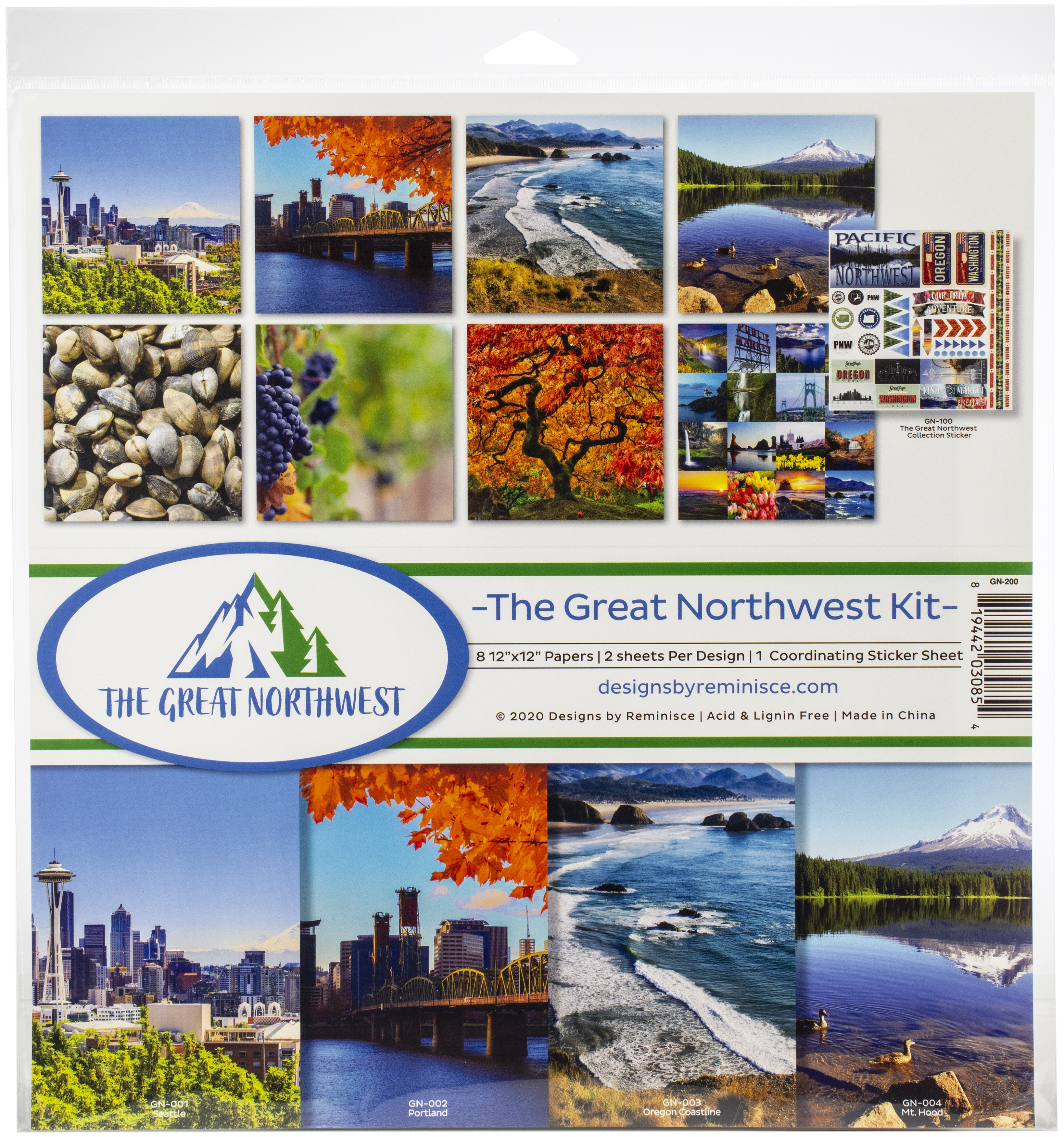 Reminisce Collection Kit 12X12-The Great Northwest