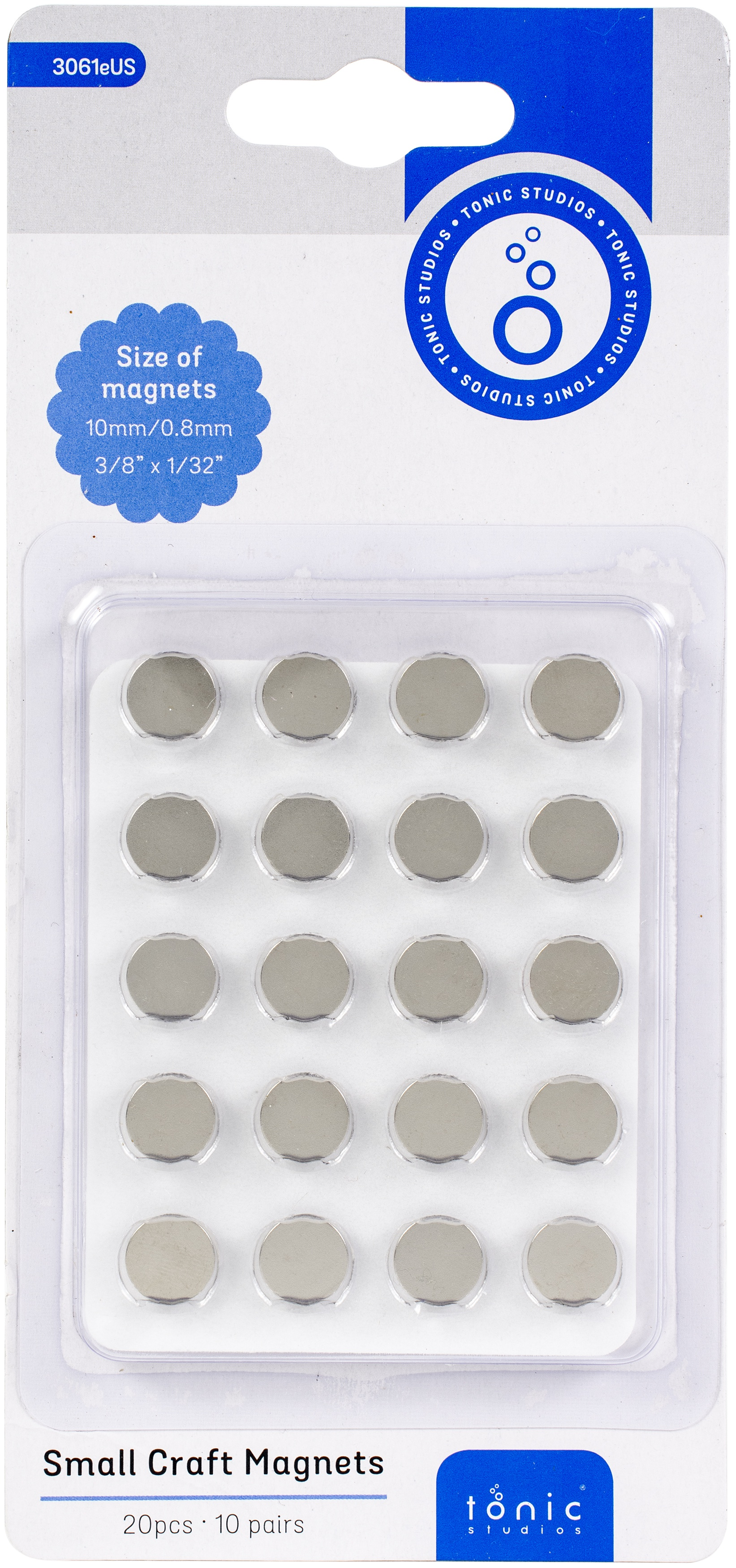 Tonic Studios Small Craft Magnets 10mm 10/Pkg