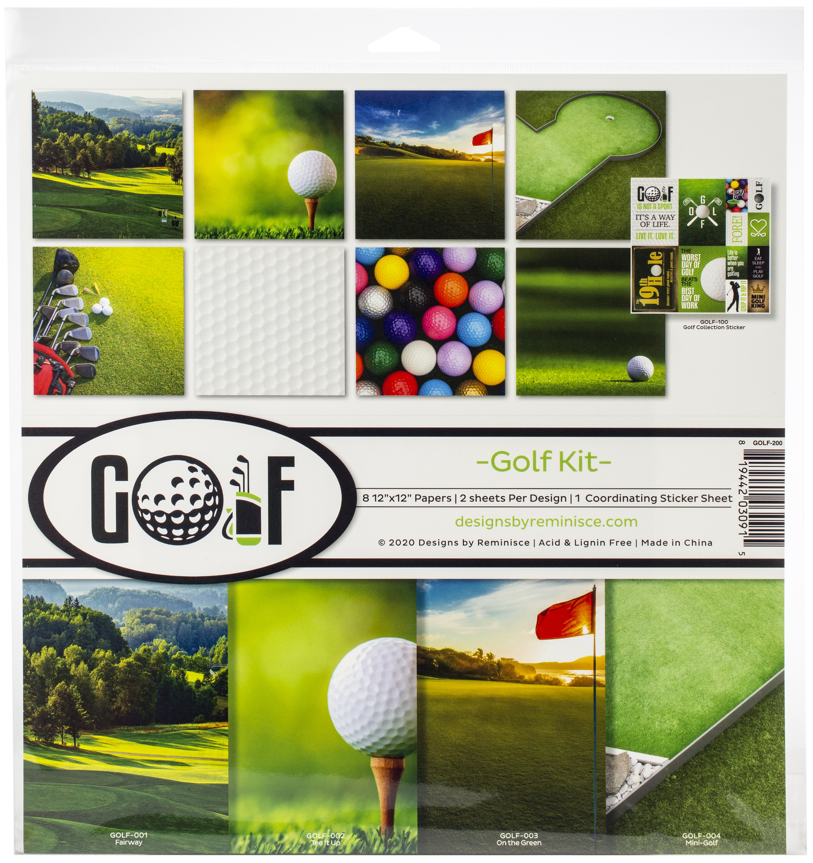 Golf Collection Kit 12X12
