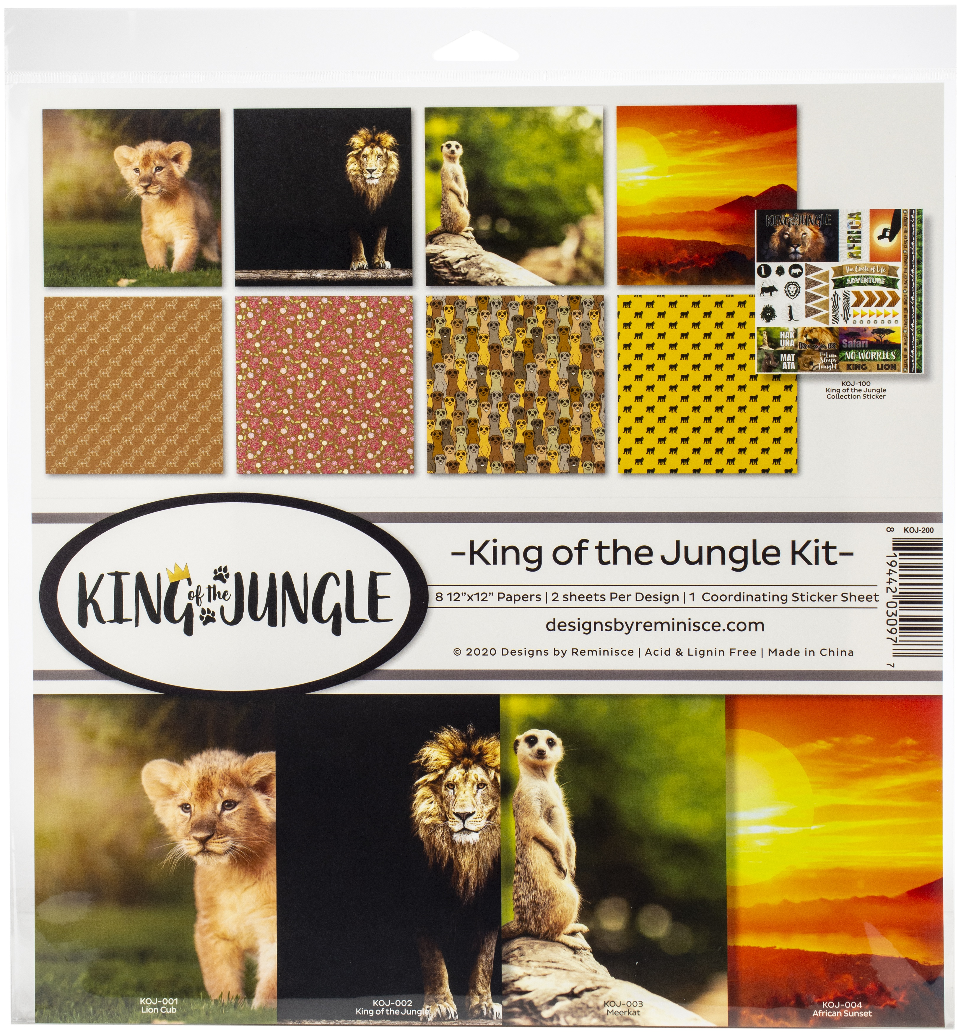 Reminisce Collection Kit 12X12-King Of The Jungle