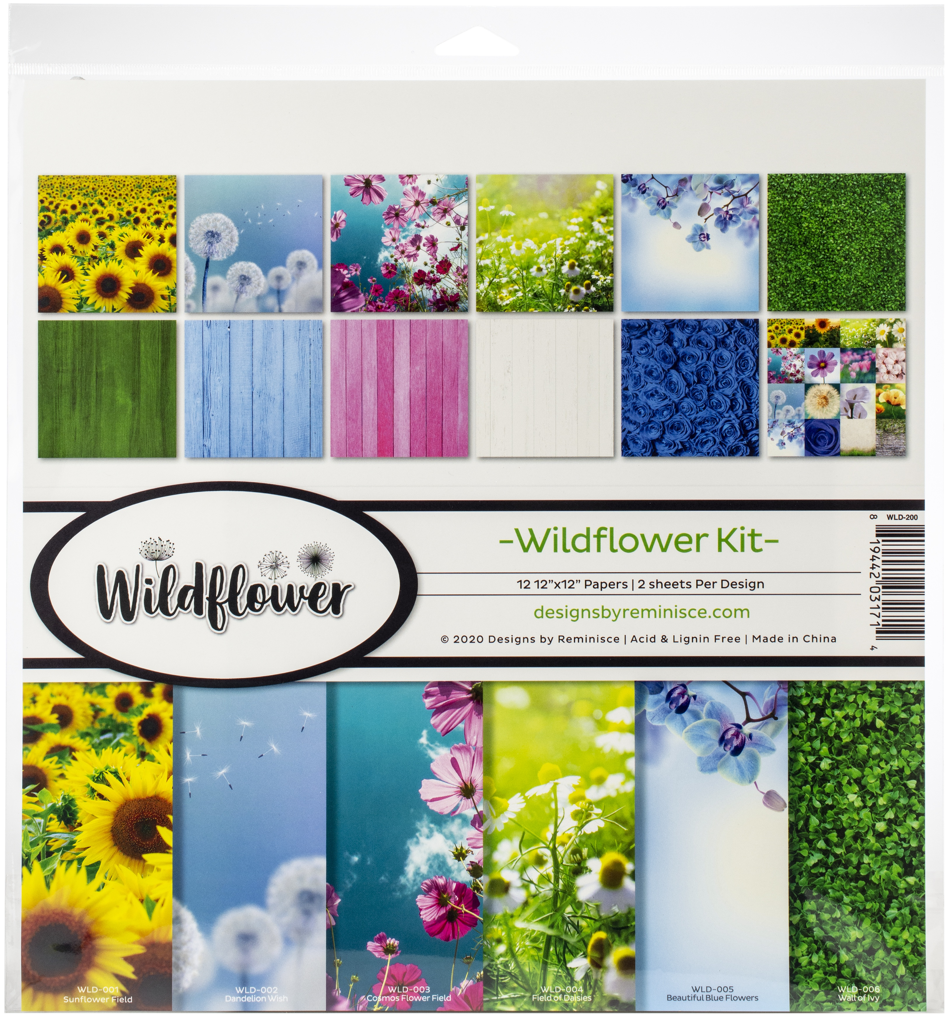 Reminisce Collection Kit 12X12-Wildflower