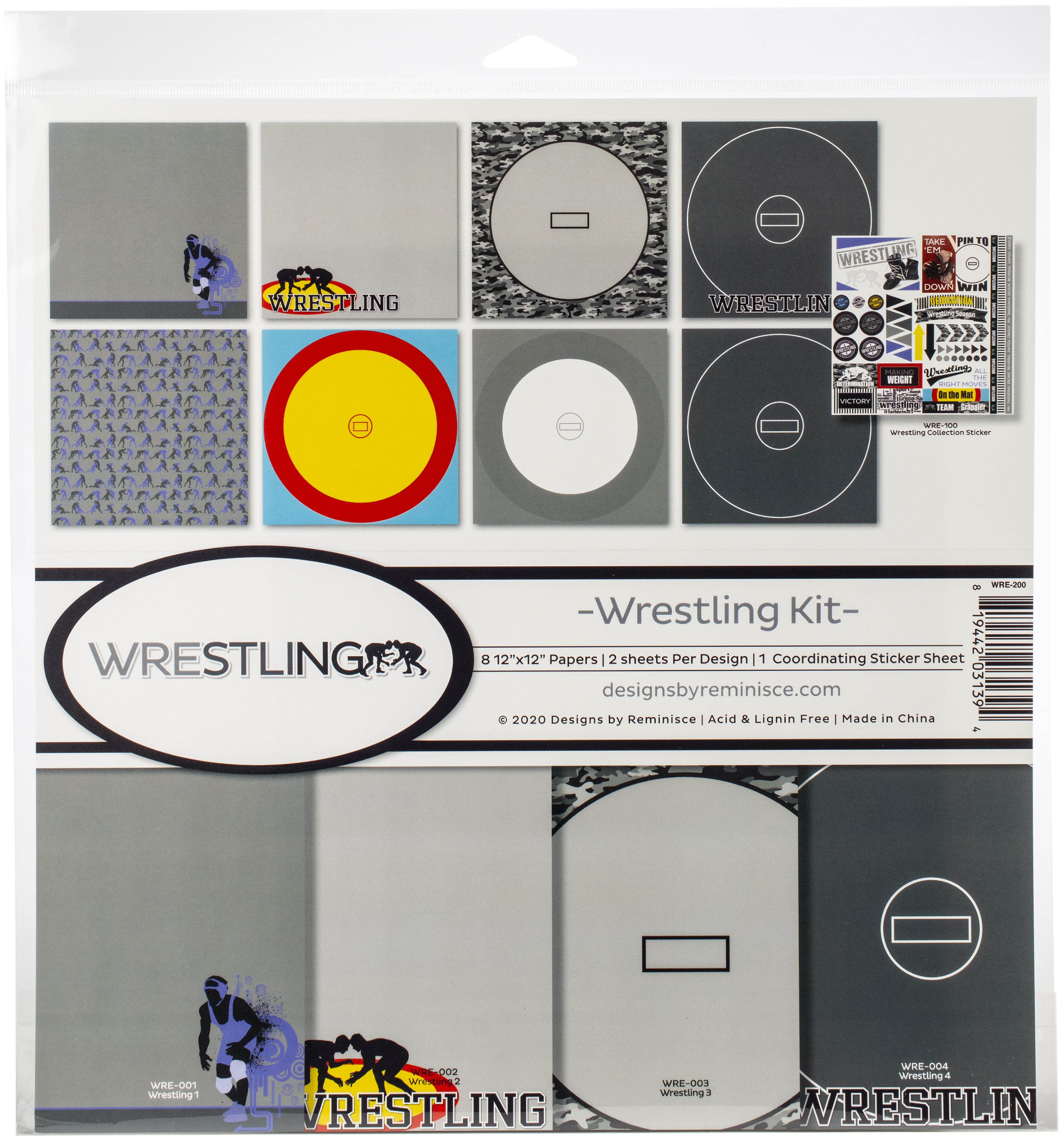 Wrestling Collection Kit 12X12