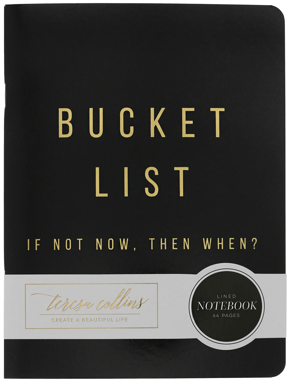 Teresa Collins Designer Notebook 6X8-Bucket List