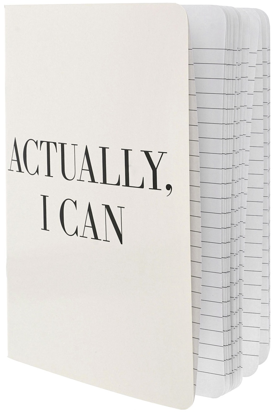 Teresa Collins Designer Notebook 6X8-Actually, I Can