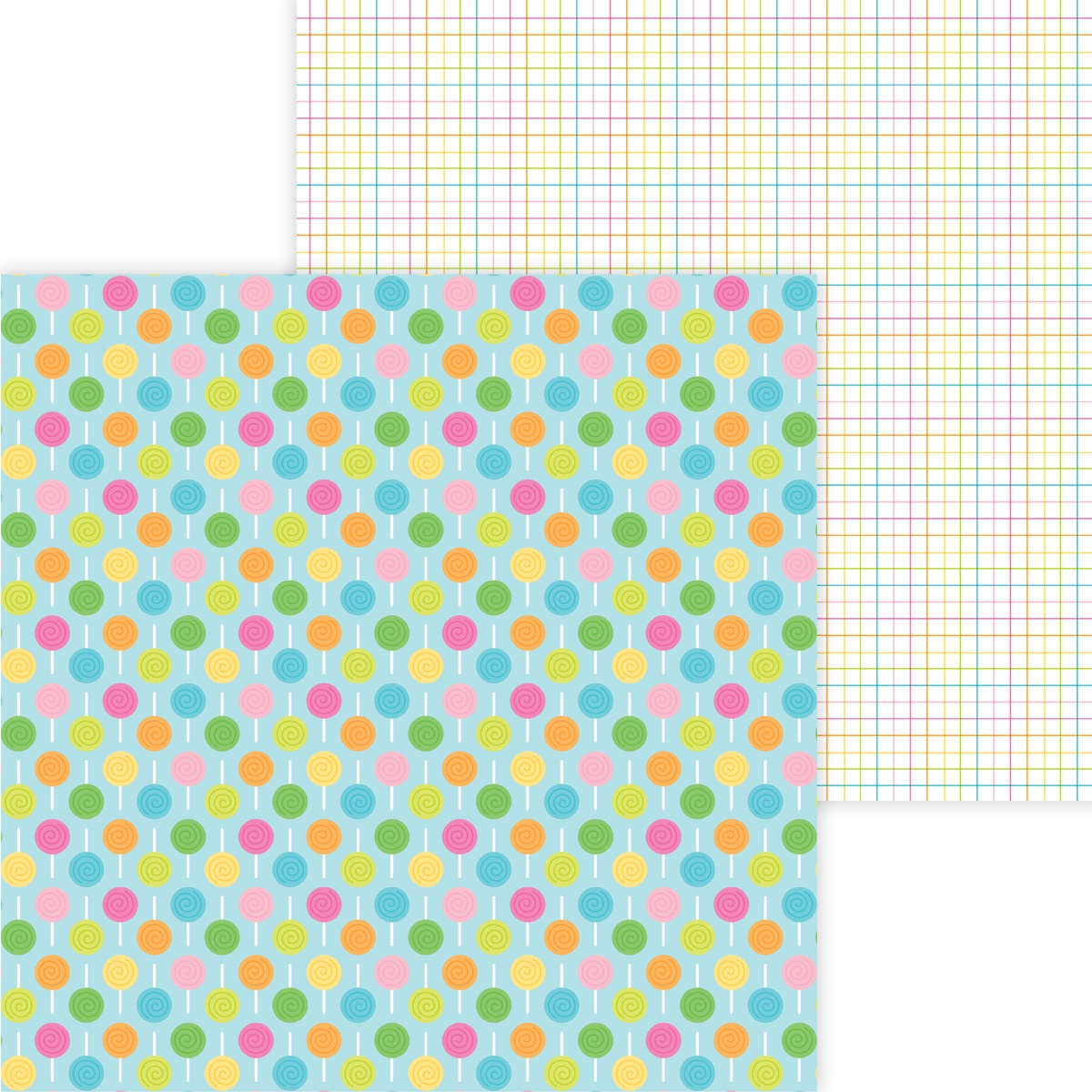 Hey Cupcake Double-Sided Cardstock 12X12-Lollies