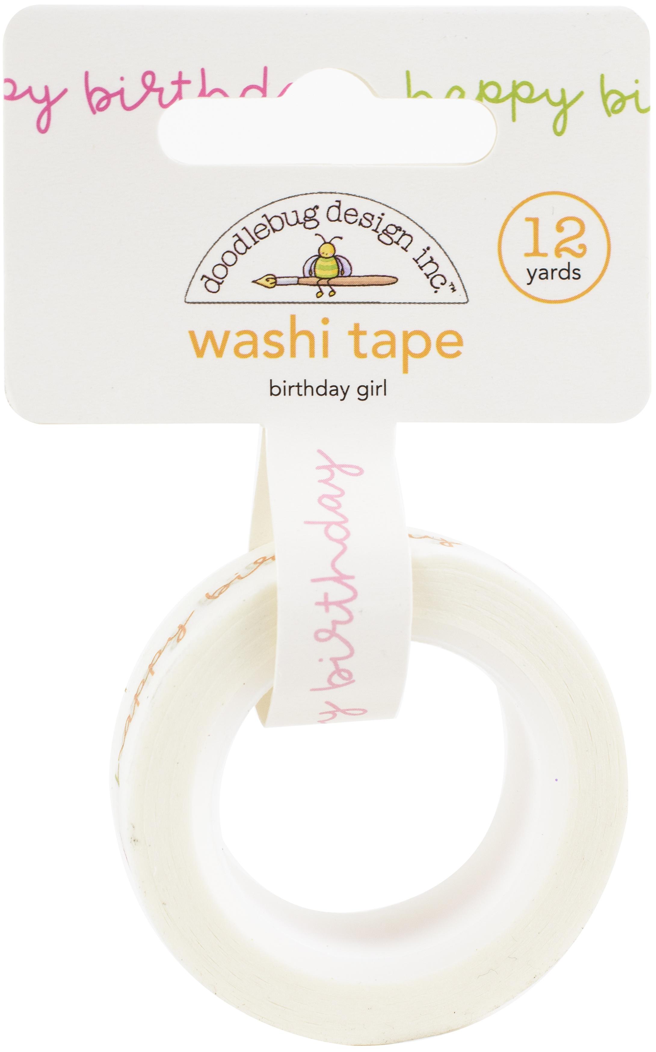Doodlebug Washi Tape 15mmX12yd-Birthday Girl, Hey Cupcake