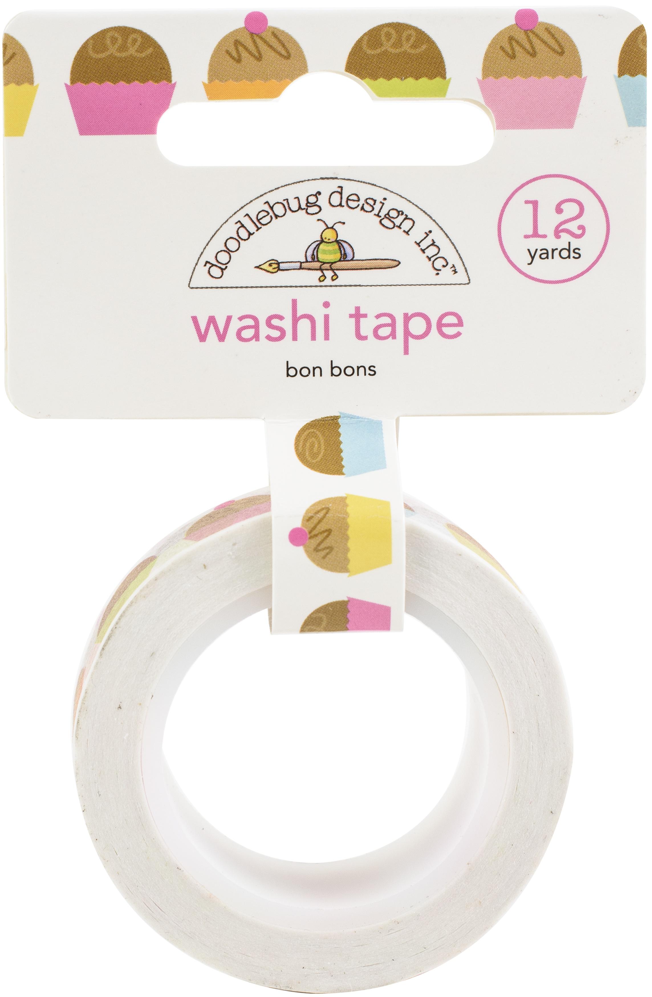 Doodlebug Washi Tape 15mmX12yd-Bon Bons, Hey Cupcake