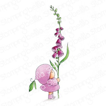 Stamping Bella Cling Stamps-Bundle Girl With A Foxglove