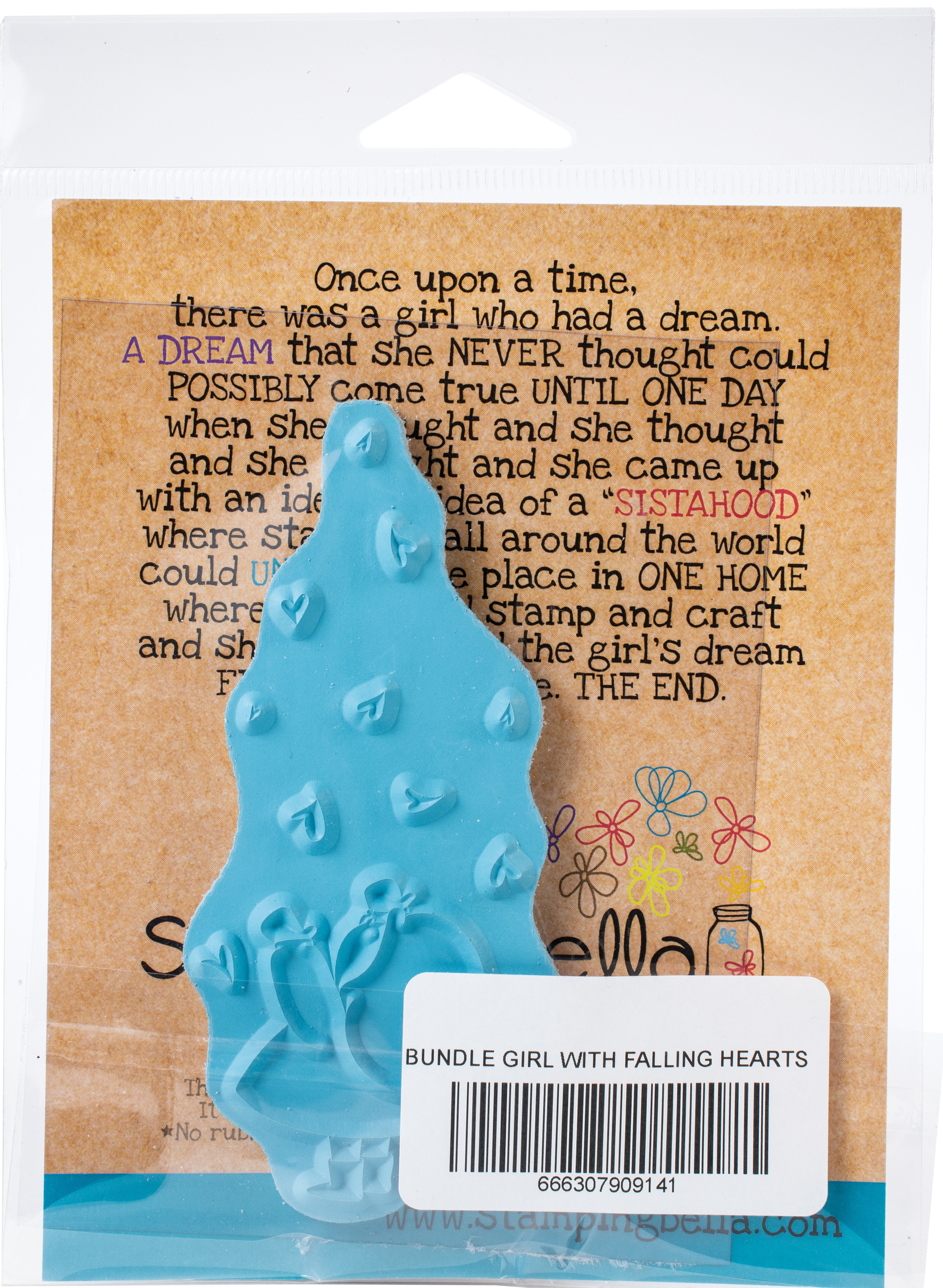Stamping Bella Cling Stamps-Bundle Girl With Falling Hearts