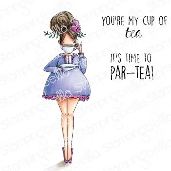 Stamping Bella Cling Stamps-Curvy Girl Loves Tea