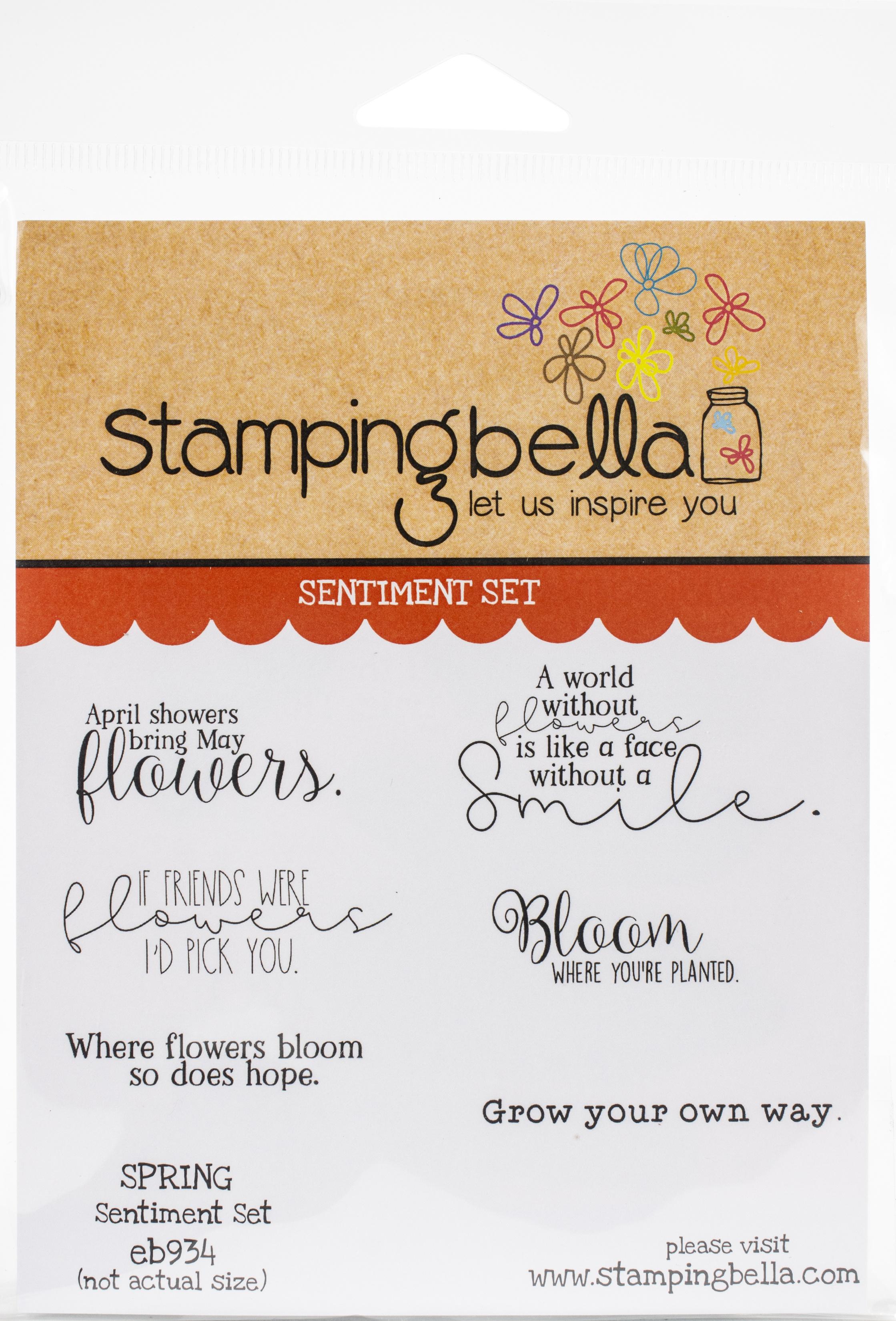 Stamping Bella Cling Stamps - Spring Sentiment Set