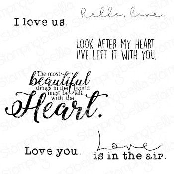 Stamping Bella Cling Stamps-Love Sentiment Set