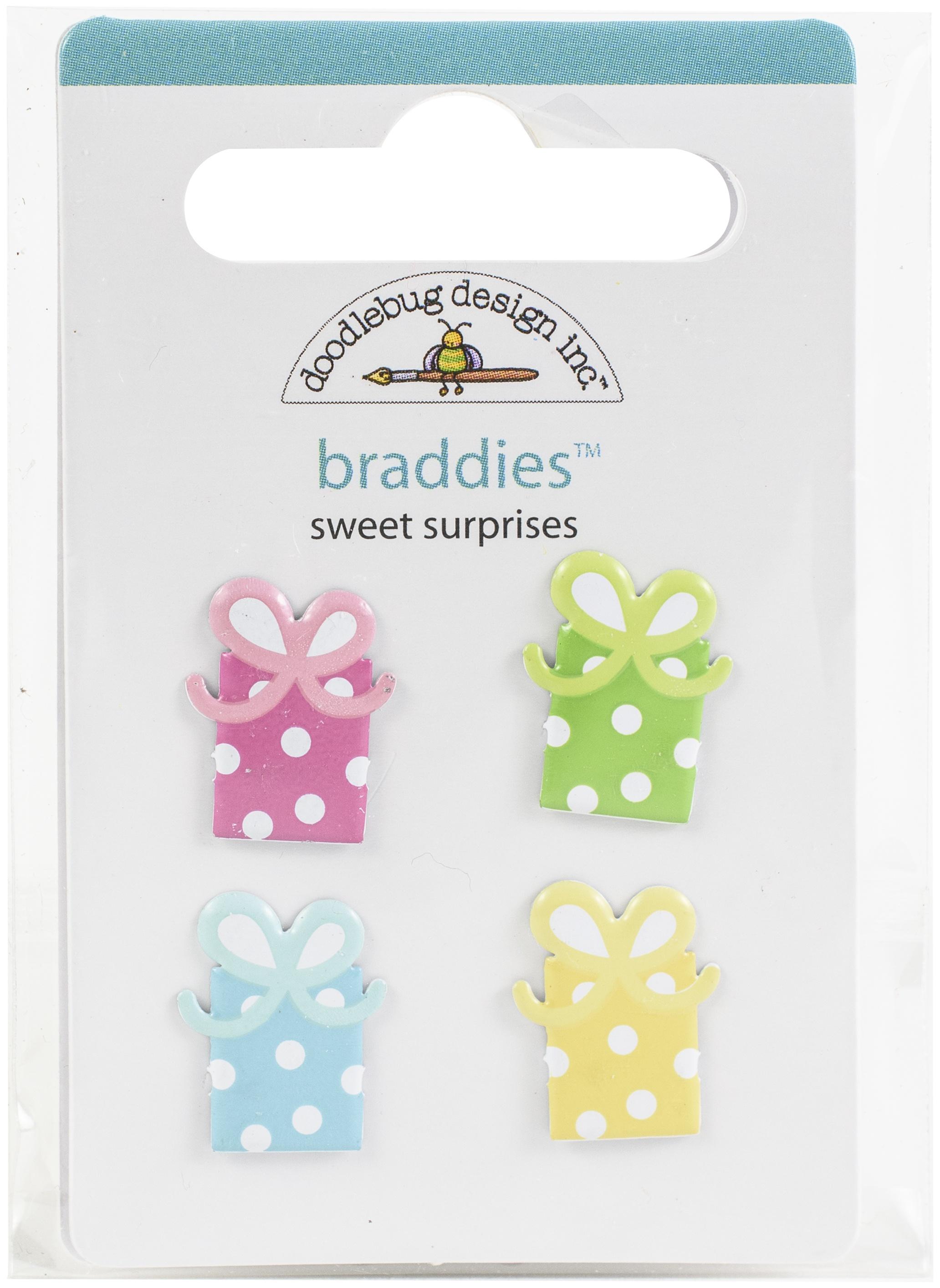 Doodlebug Braddies Brads-Sweet Surprises, Hey Cupcake