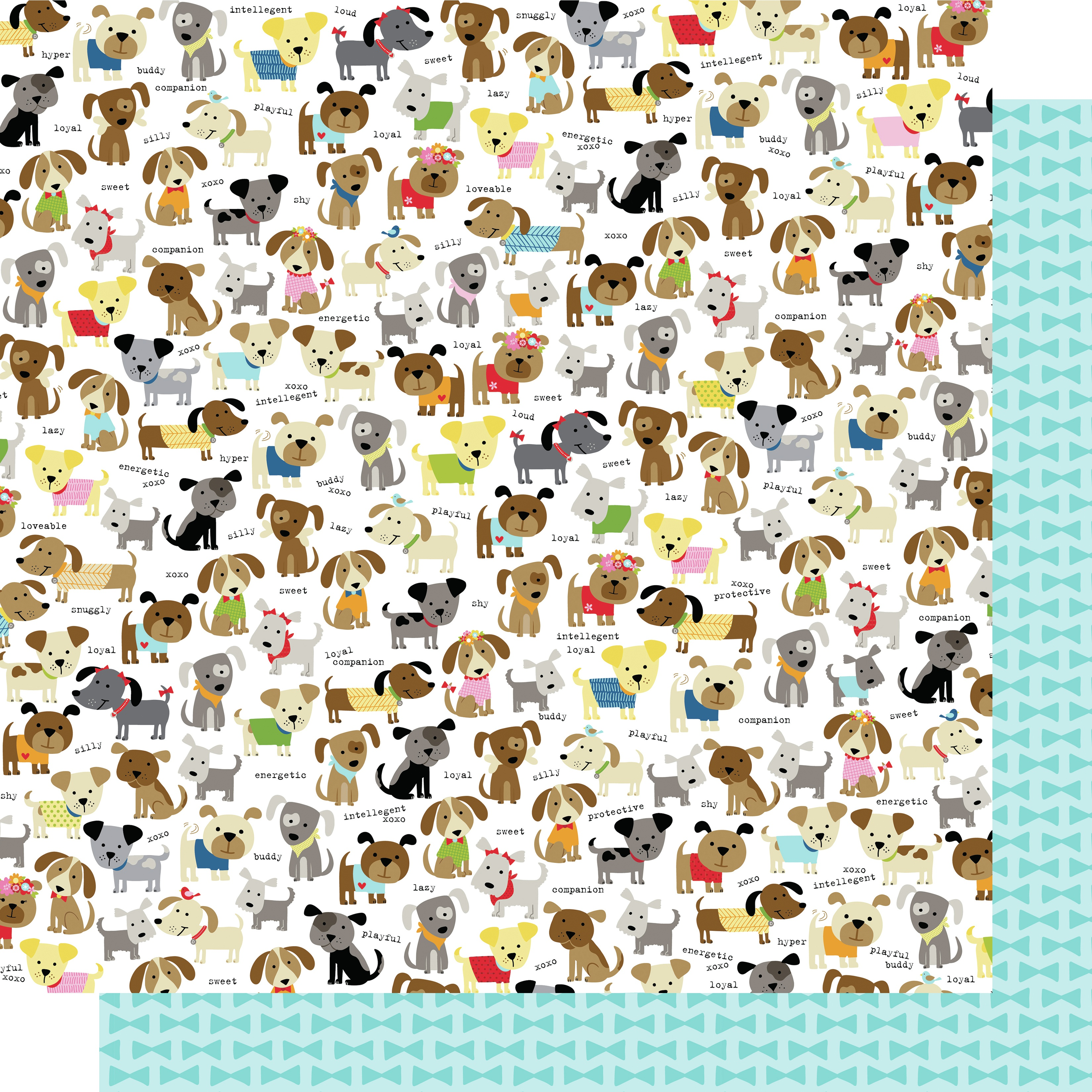 Bella Cooper Double-Sided Cardstock 12X12-Dog Pack